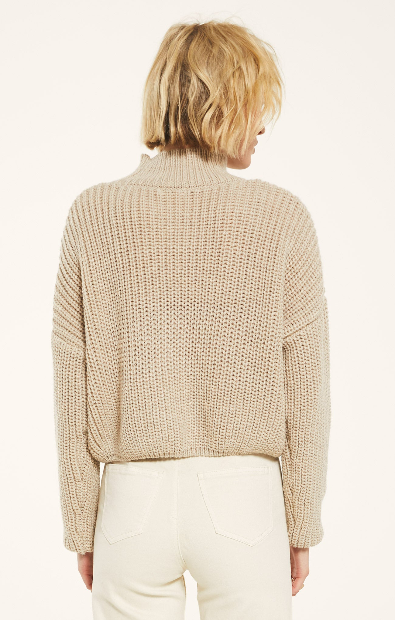 Sweaters Marylebone Sweater by Rag Poets Mushroom