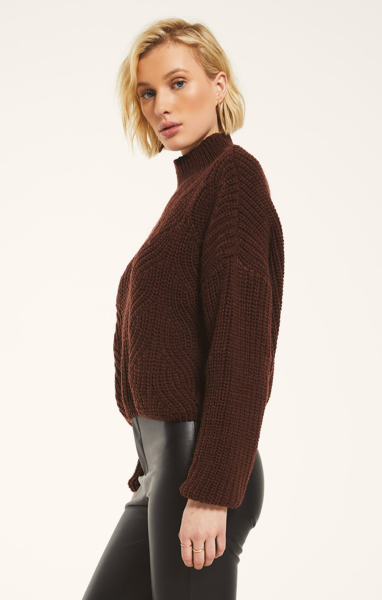 Sweaters Marylebone Sweater by Rag Poets Rum Raisin