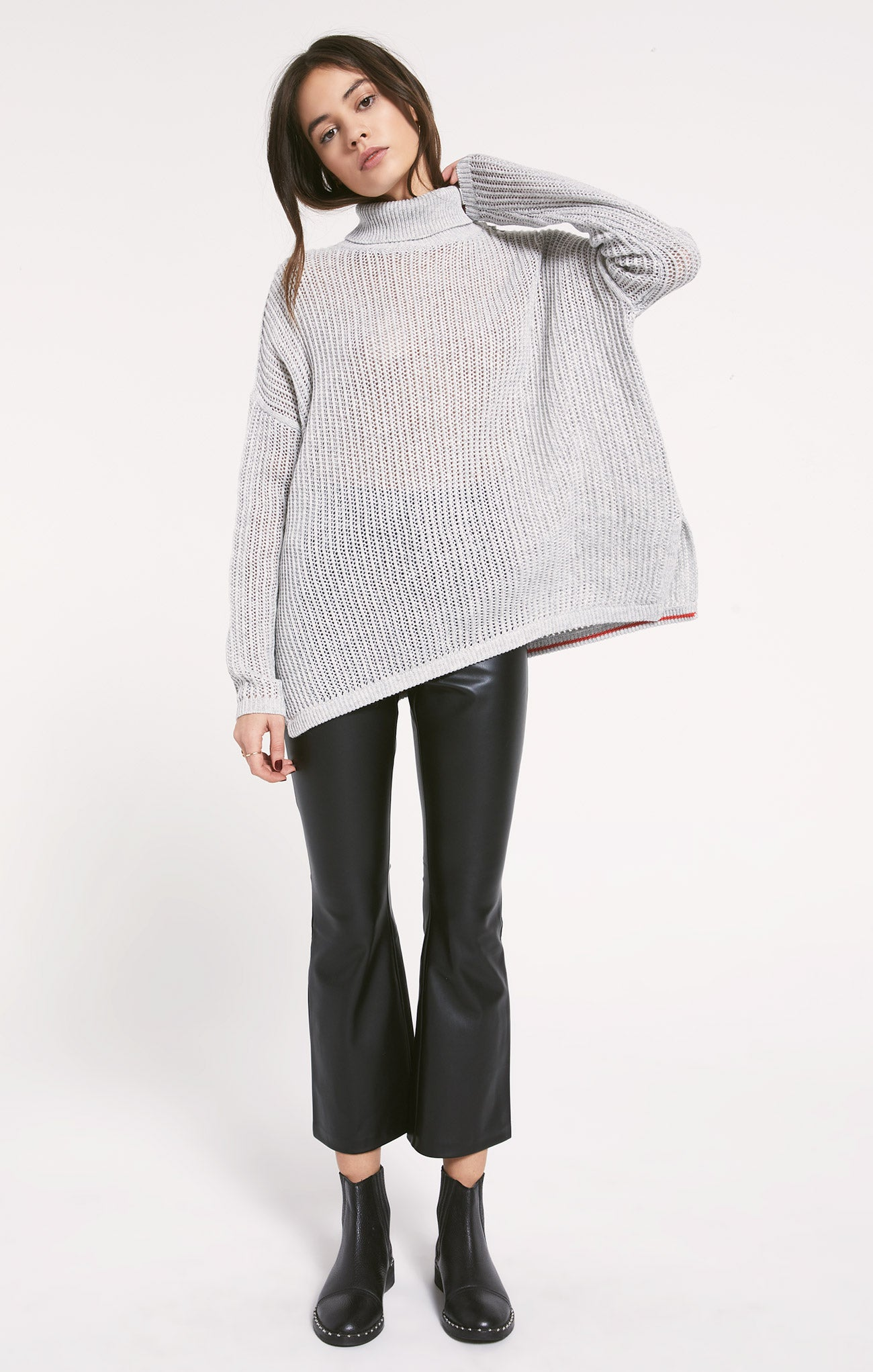 Sweaters Oxford Sweater by Rag Poets Heather Grey