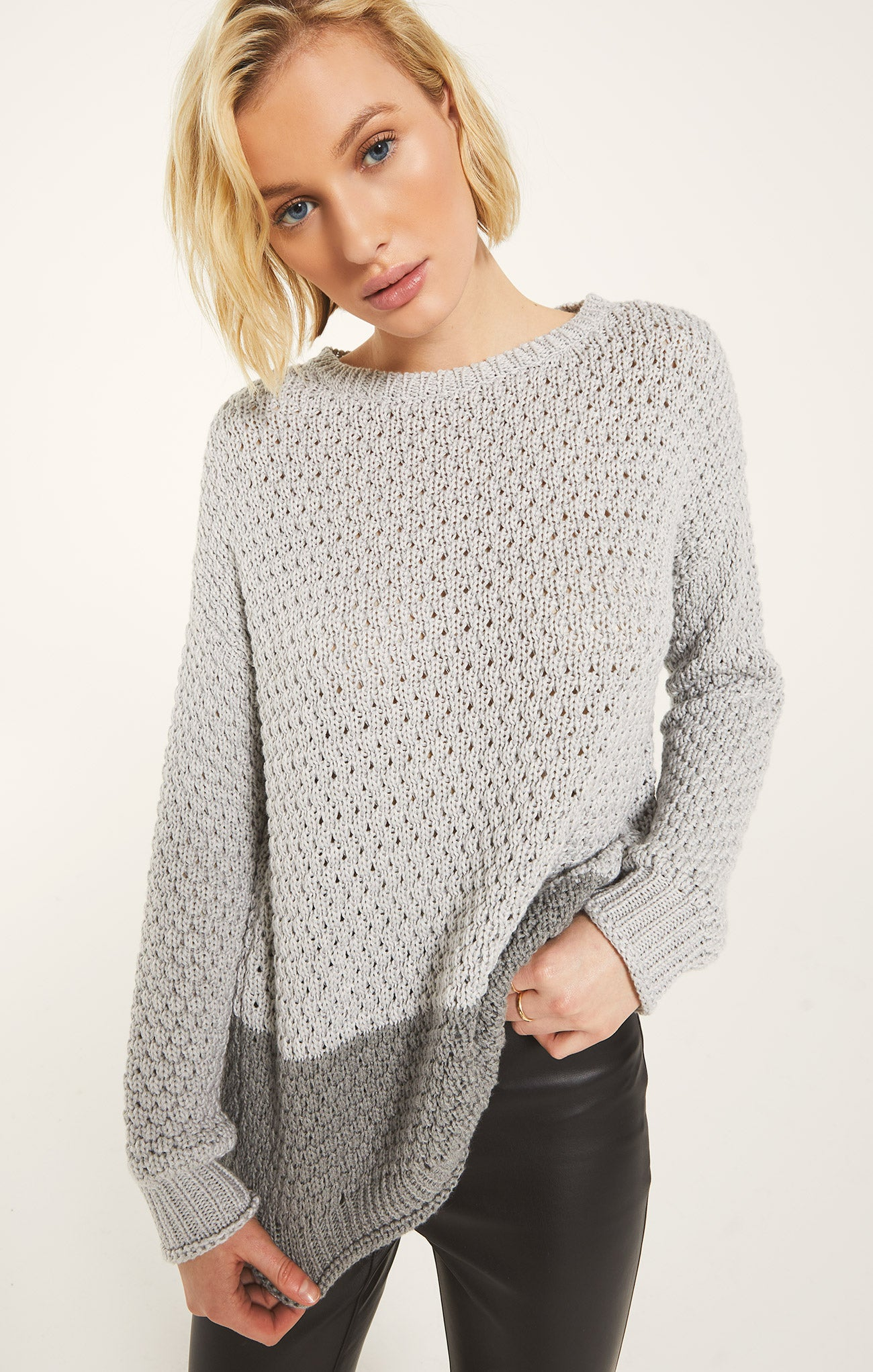 Sweaters Lewis Sweater by Rag Poets Light Heather Grey