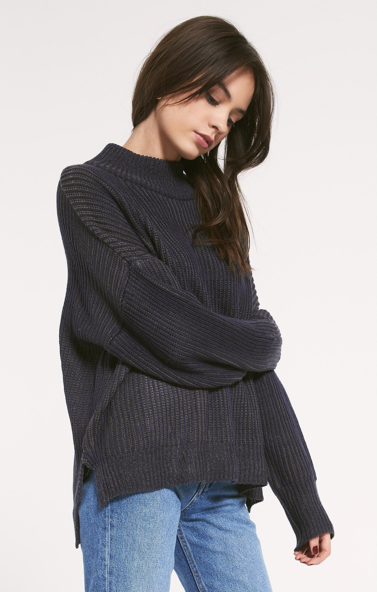 Sweaters Irwin Sweater by Rag Poets Mood Indigo