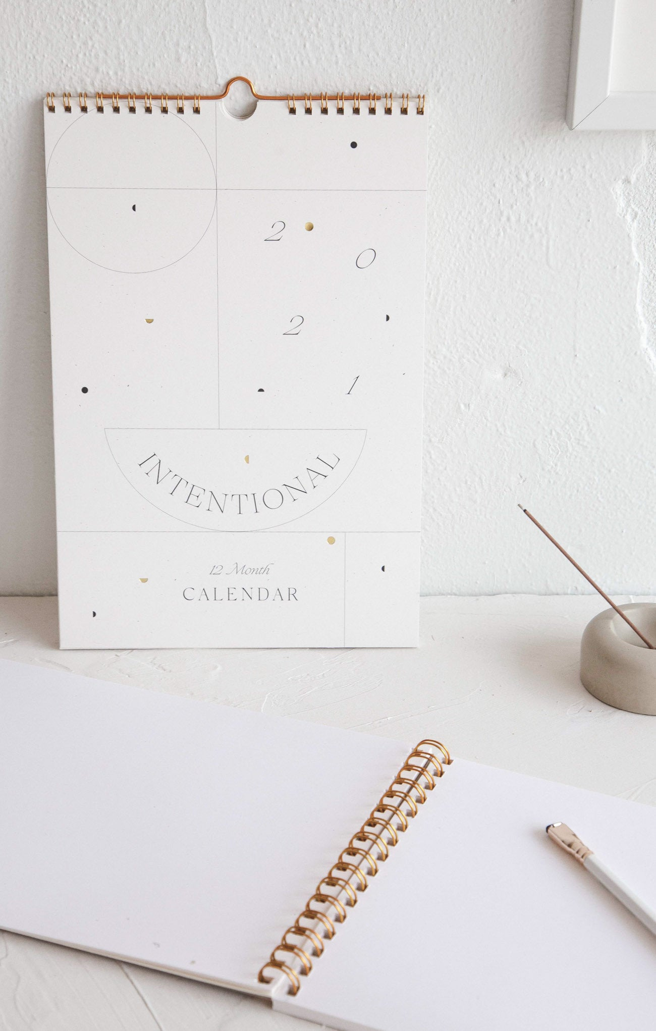 Paper Goods 2021 Intentional Wall Calendar by Wilde House Paper Multi