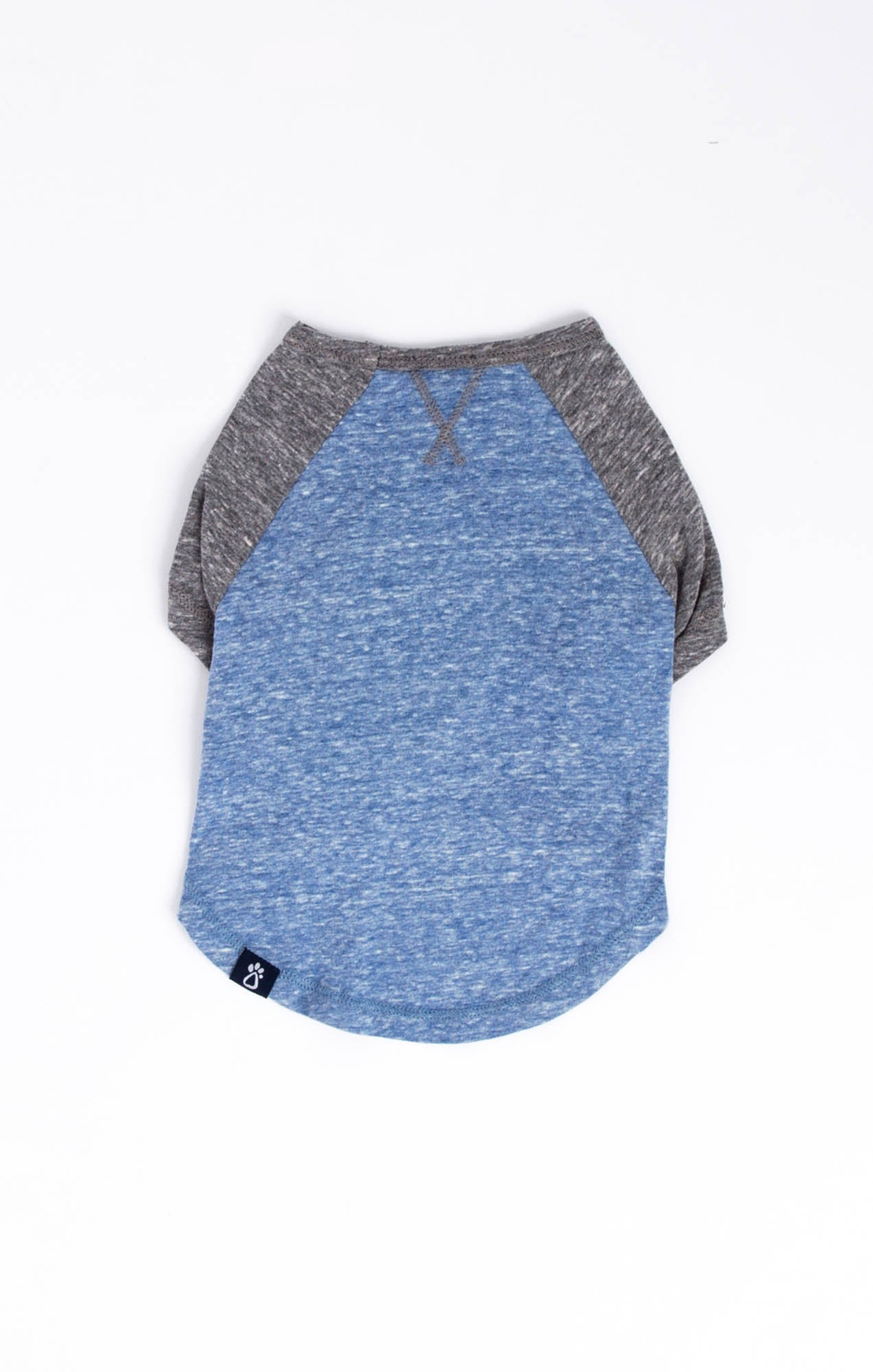 Tops The Sno Yarn Baseball Tee by ZOO SUPPLY Black Iris/Heather Grey