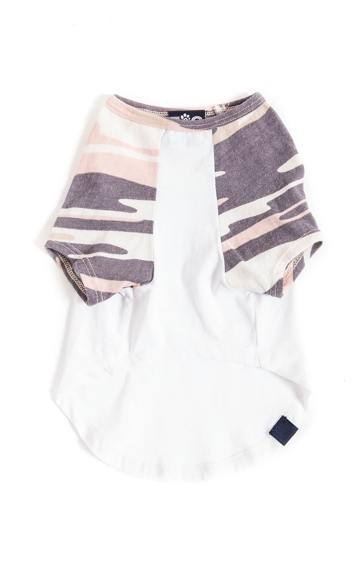 Tops The Camo Baseball Tee by ZOO SUPPLY White/Camo Pink