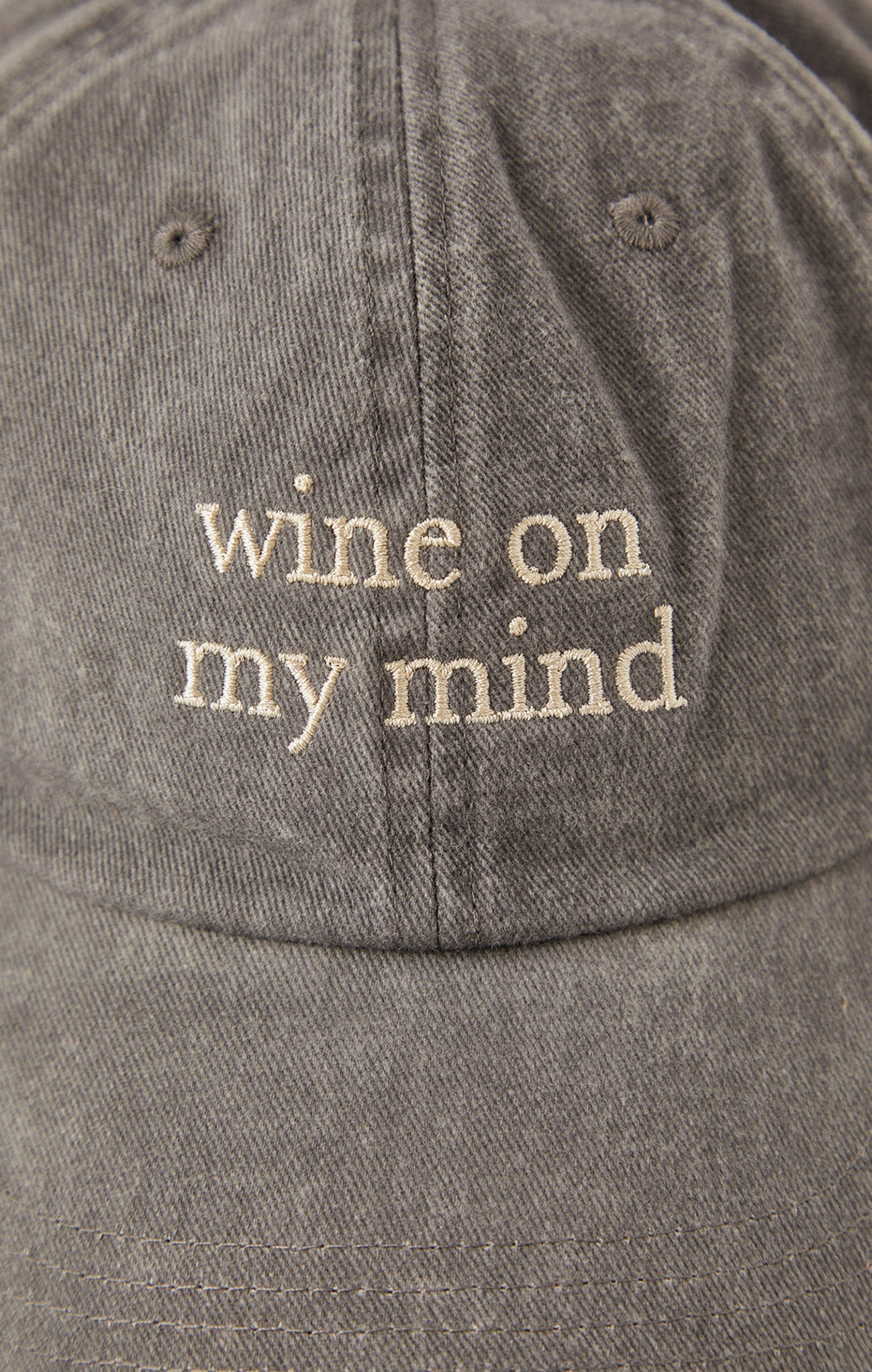 Accessories Wine On My Mind Hat Grey
