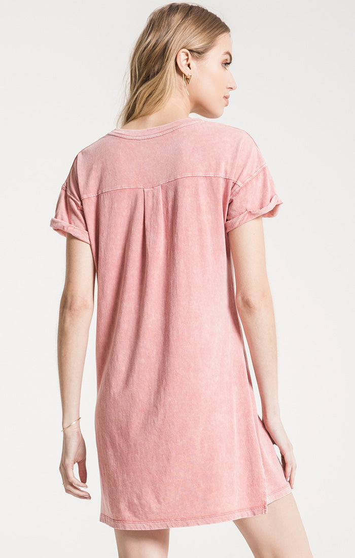 Dresses The Washed Cotton T-Shirt Dress Mineral Red