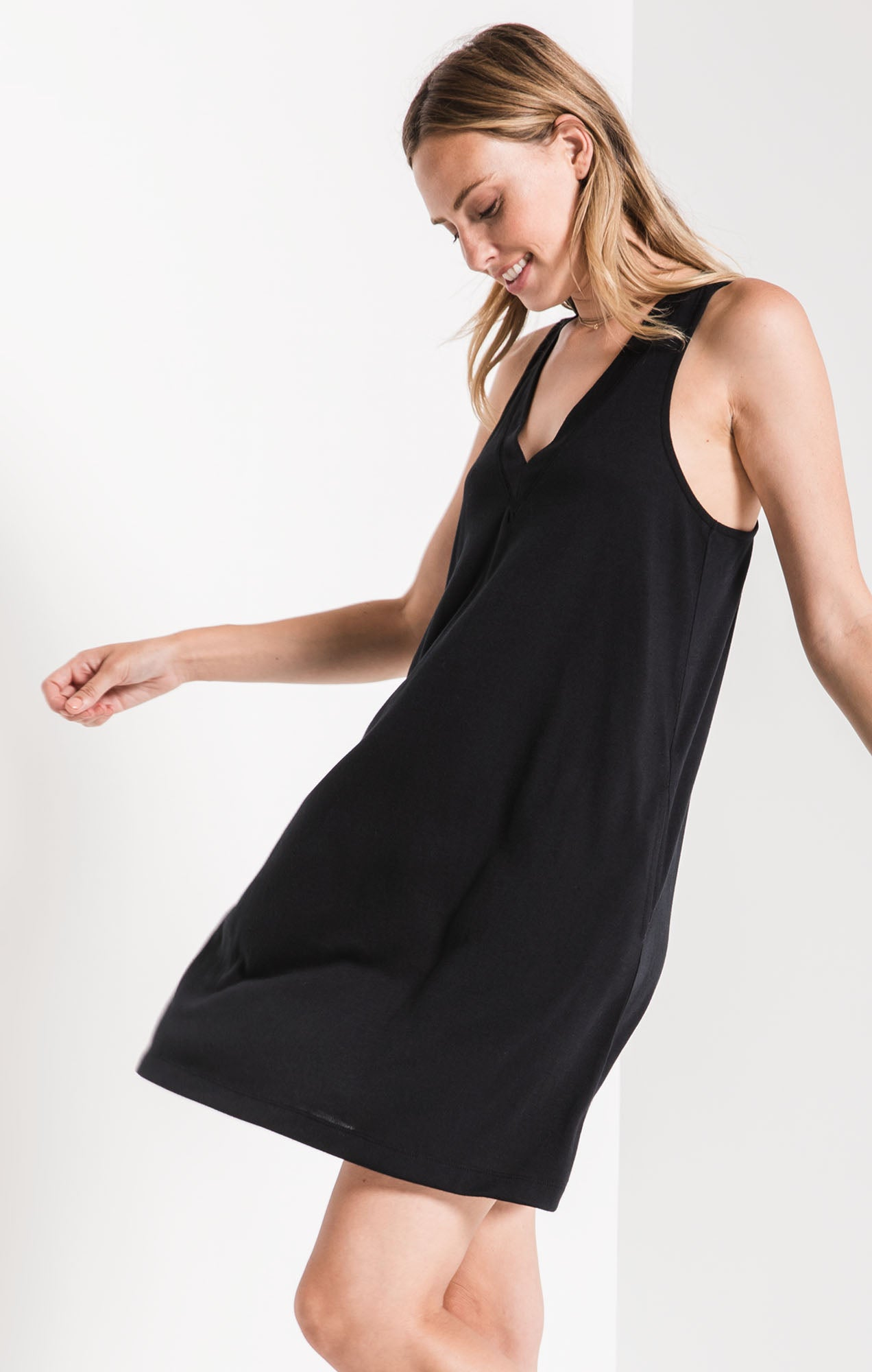 Dresses The City Tank Dress Black