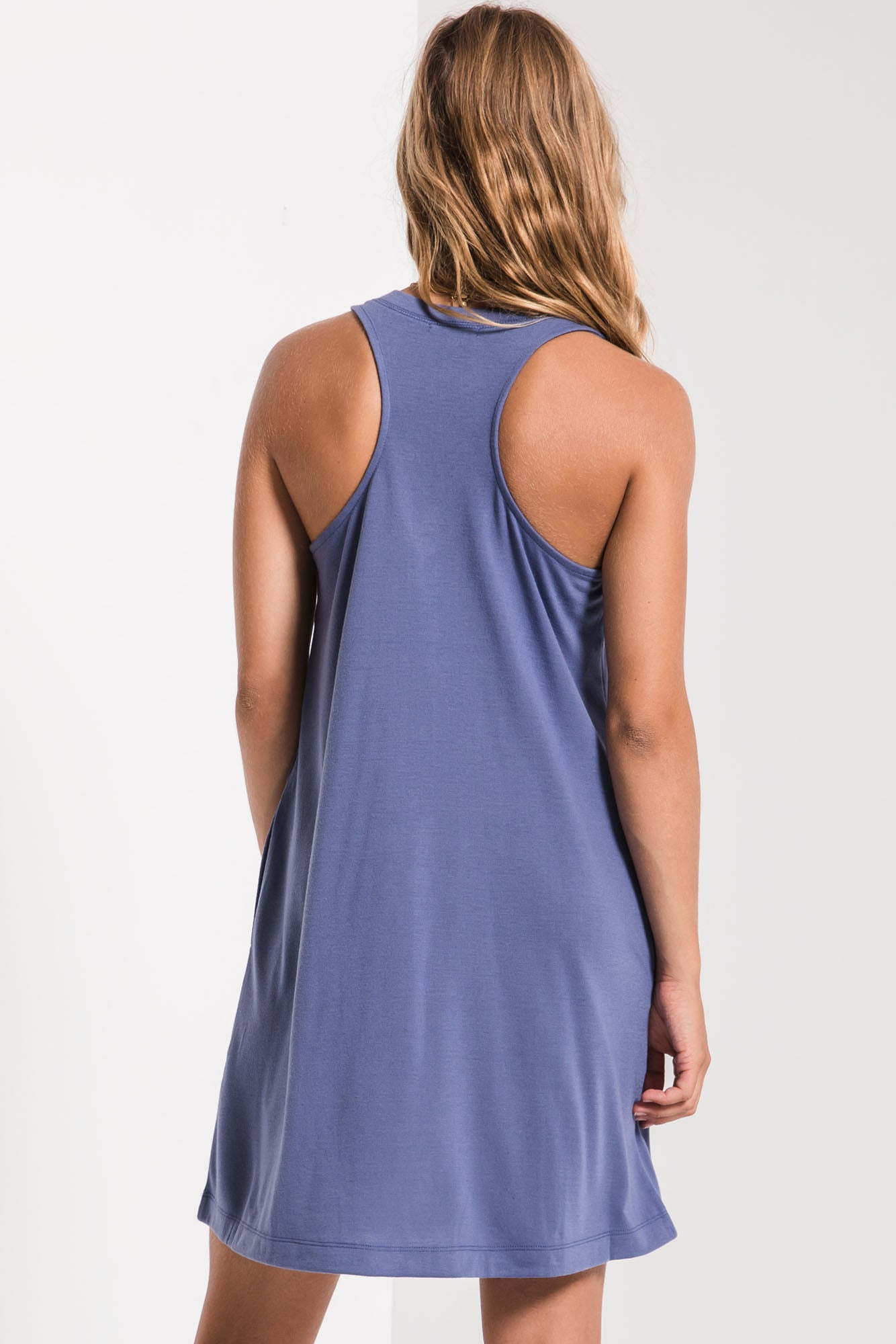 Dresses The City Tank Dress Coastal Blue