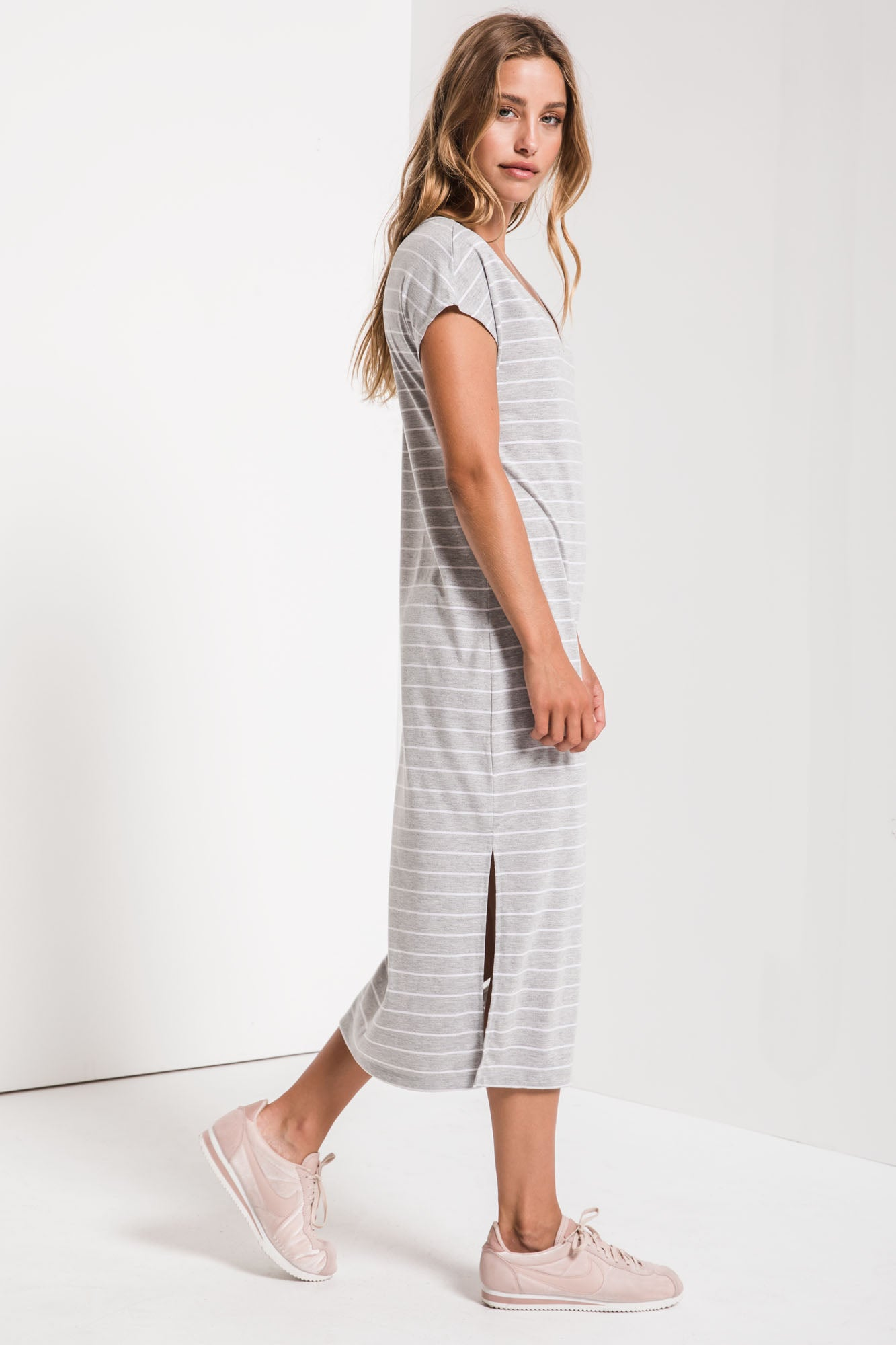 Dresses Stripe Midi Drop Dress Stripe Midi Drop Dress