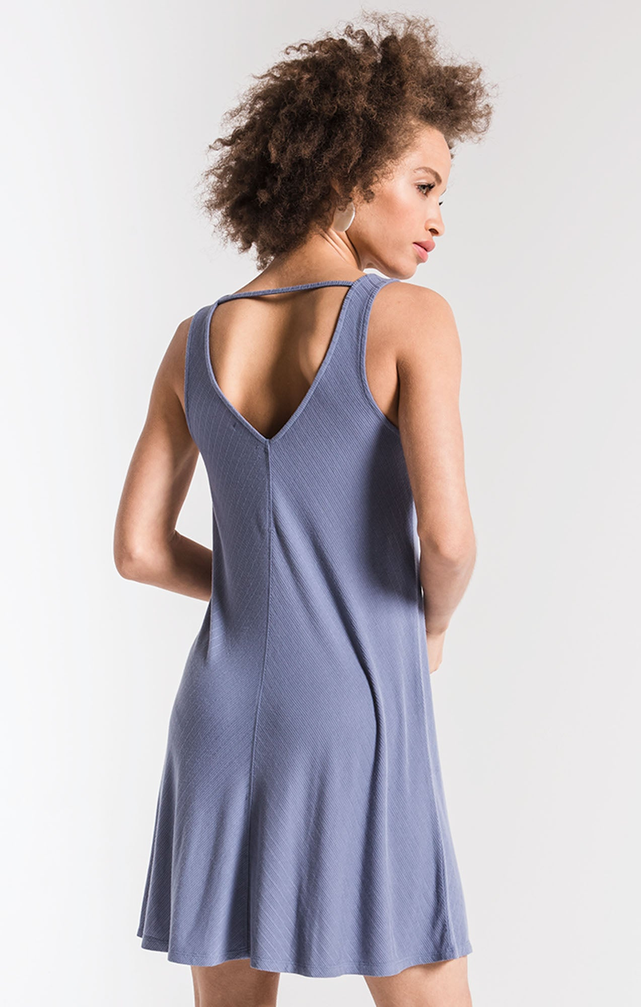 Dresses The Joslyn Swing Dress Moody Blue
