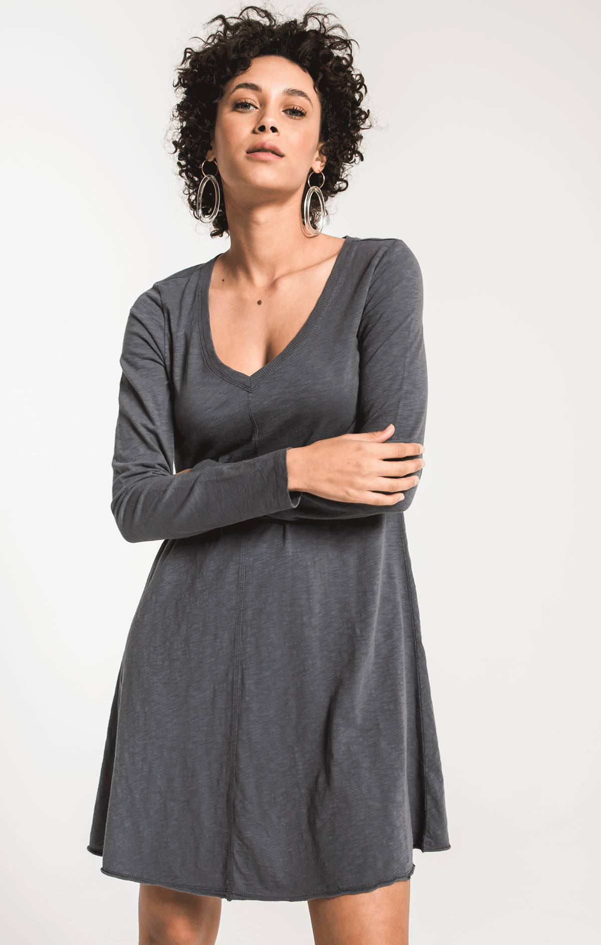 Tops The Cotton Slub Clarington Dress Storm Grey