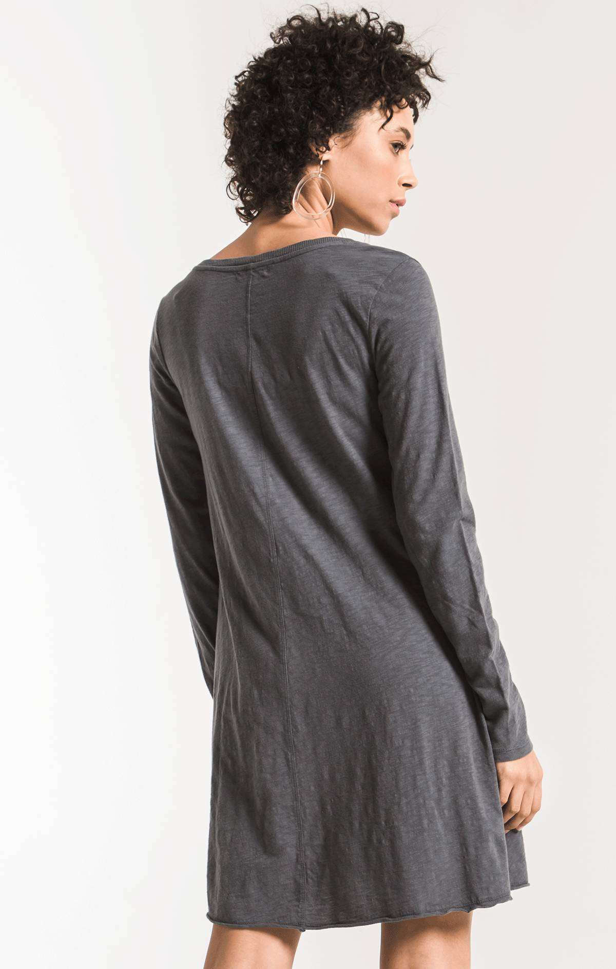 Tops Cotton Slub Clarington Dress Storm Grey