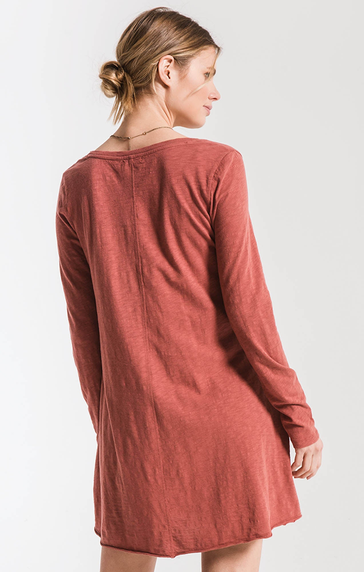 Tops The Cotton Slub Clarington Dress Mesa Red