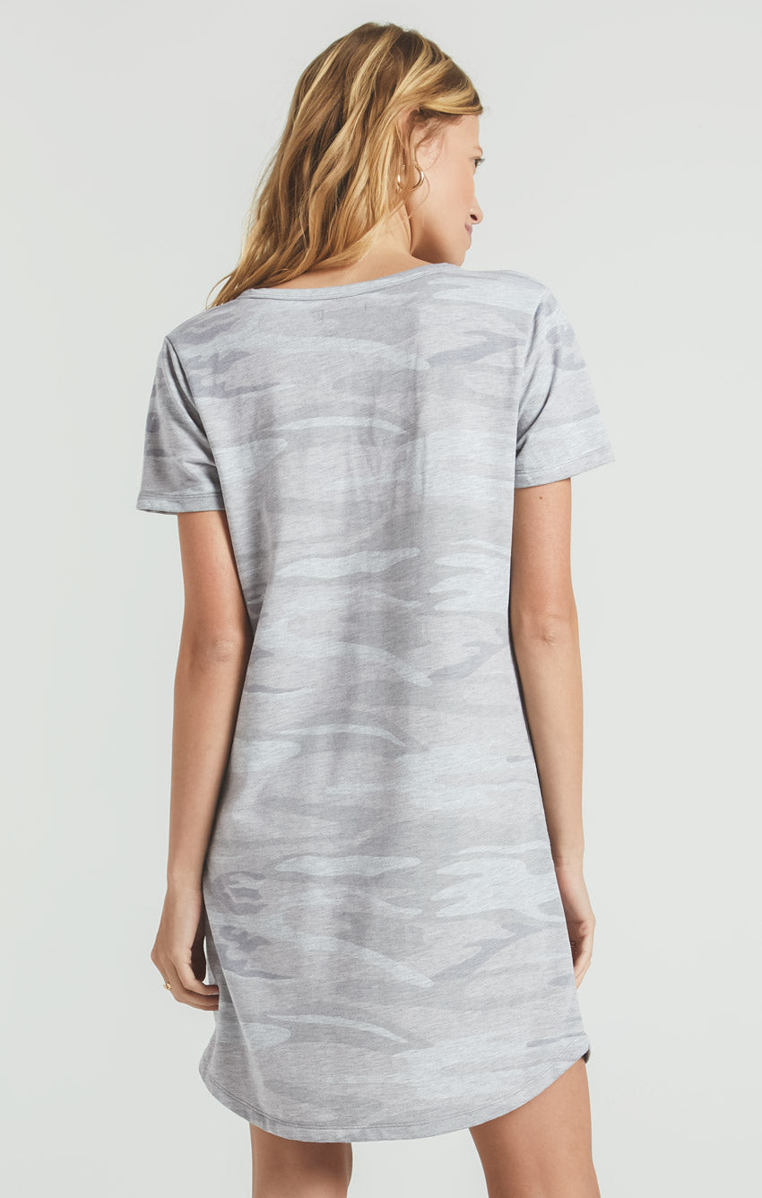 Dresses Camo Split Neck Dress Camo Heather Grey