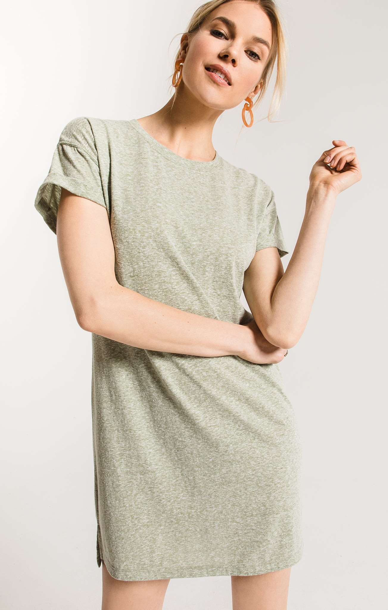 Dresses The Triblend T-Shirt Dress Oil Green