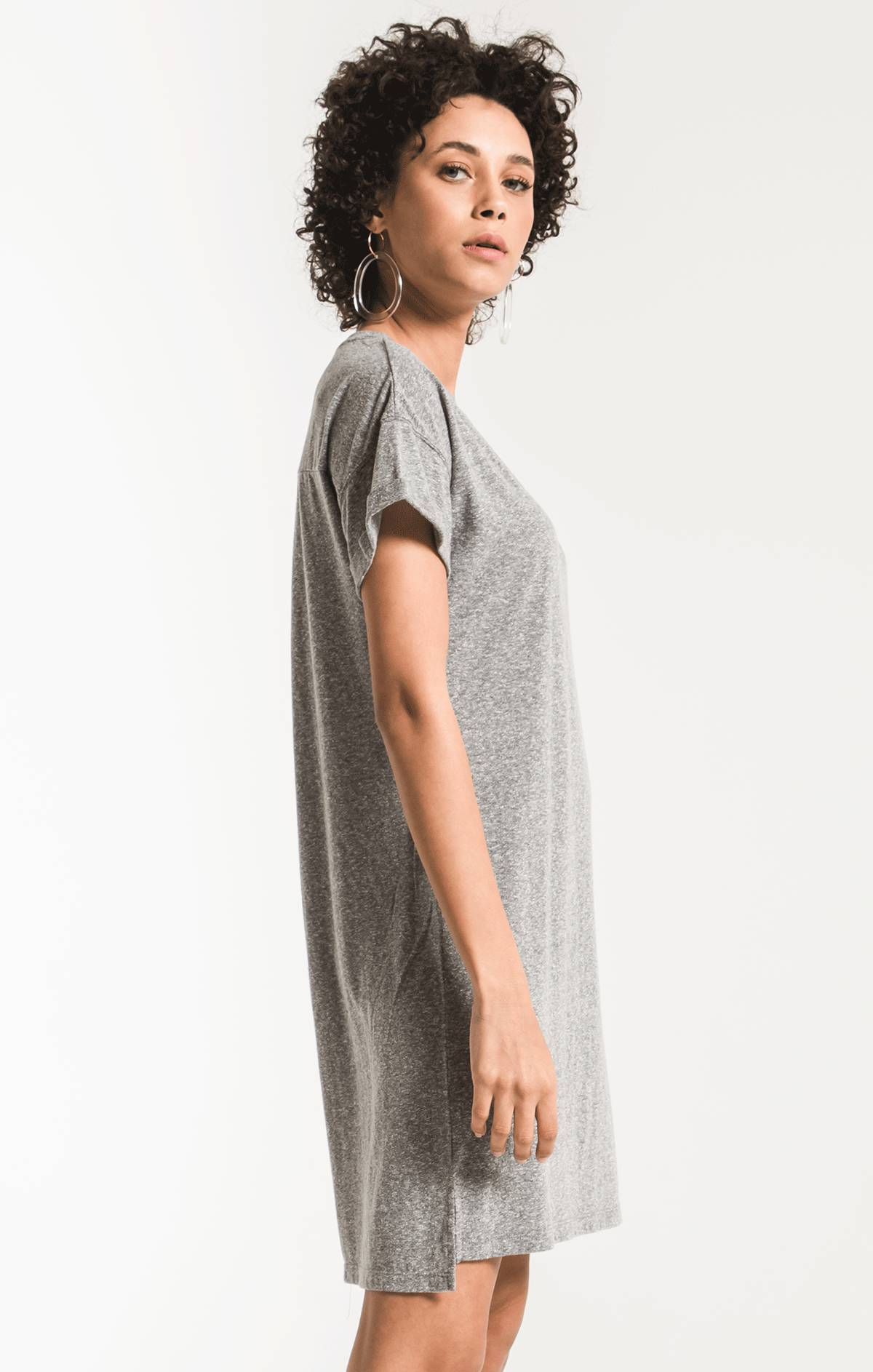 Dresses The Triblend T-Shirt Dress Heather Grey