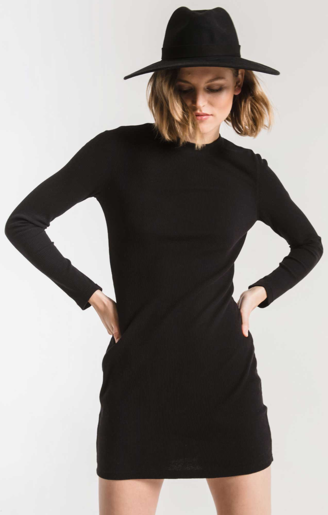 Dresses The Thermal Long Sleeve Dress Black