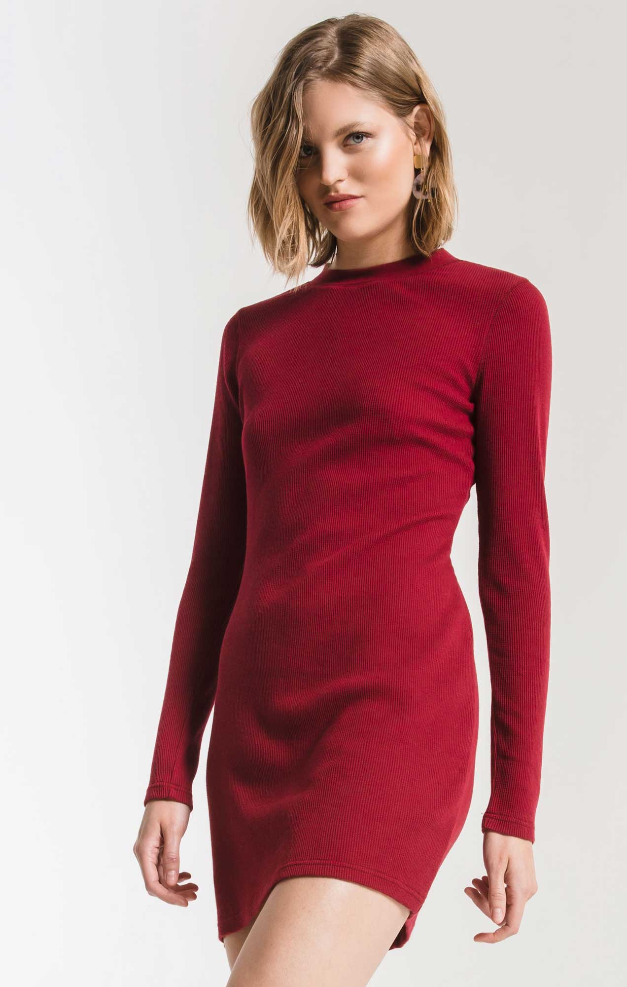 Dresses Thermal Long Sleeve Dress Rumba Red