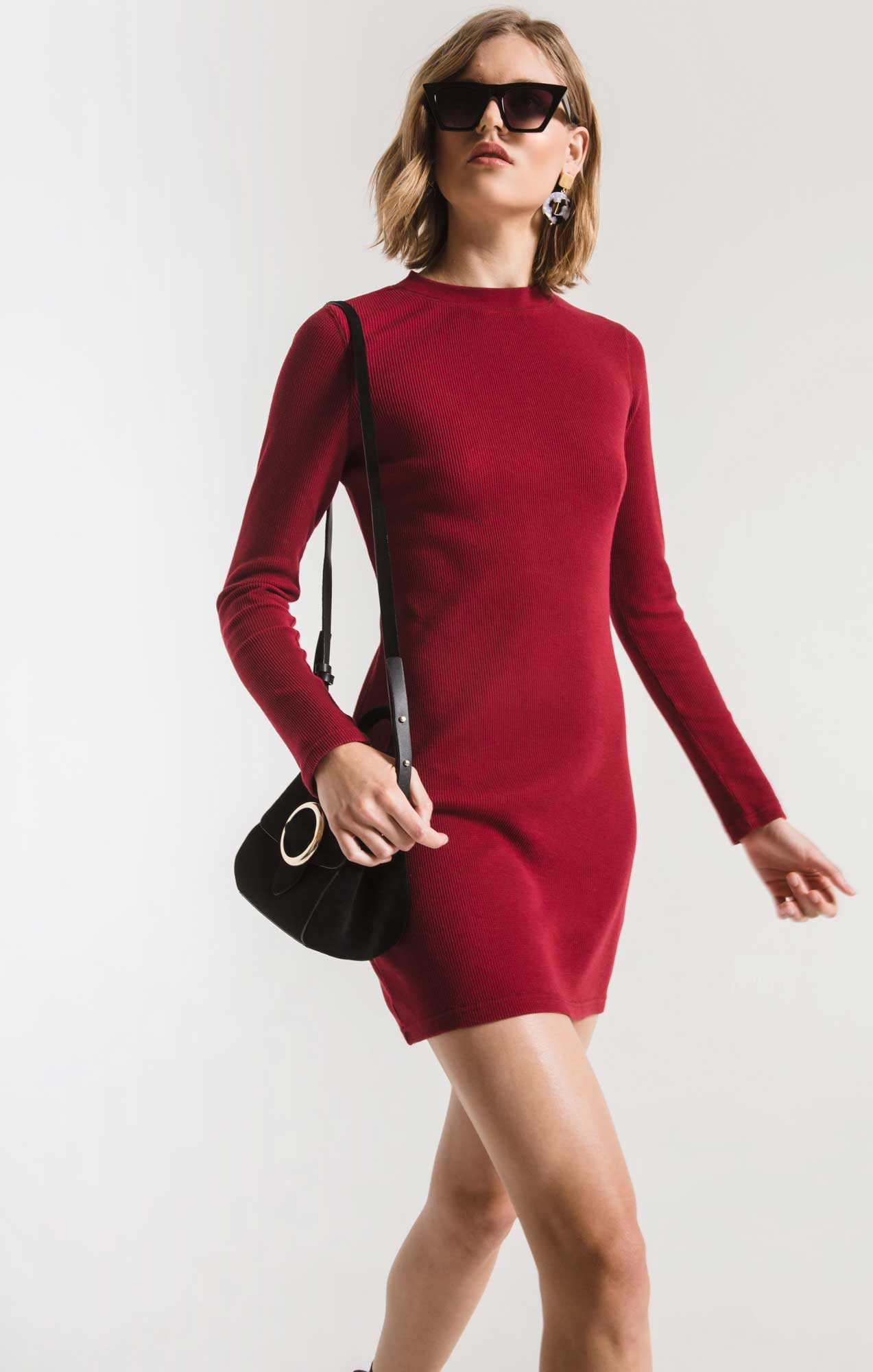 Dresses The Thermal Long Sleeve Dress Rumba Red