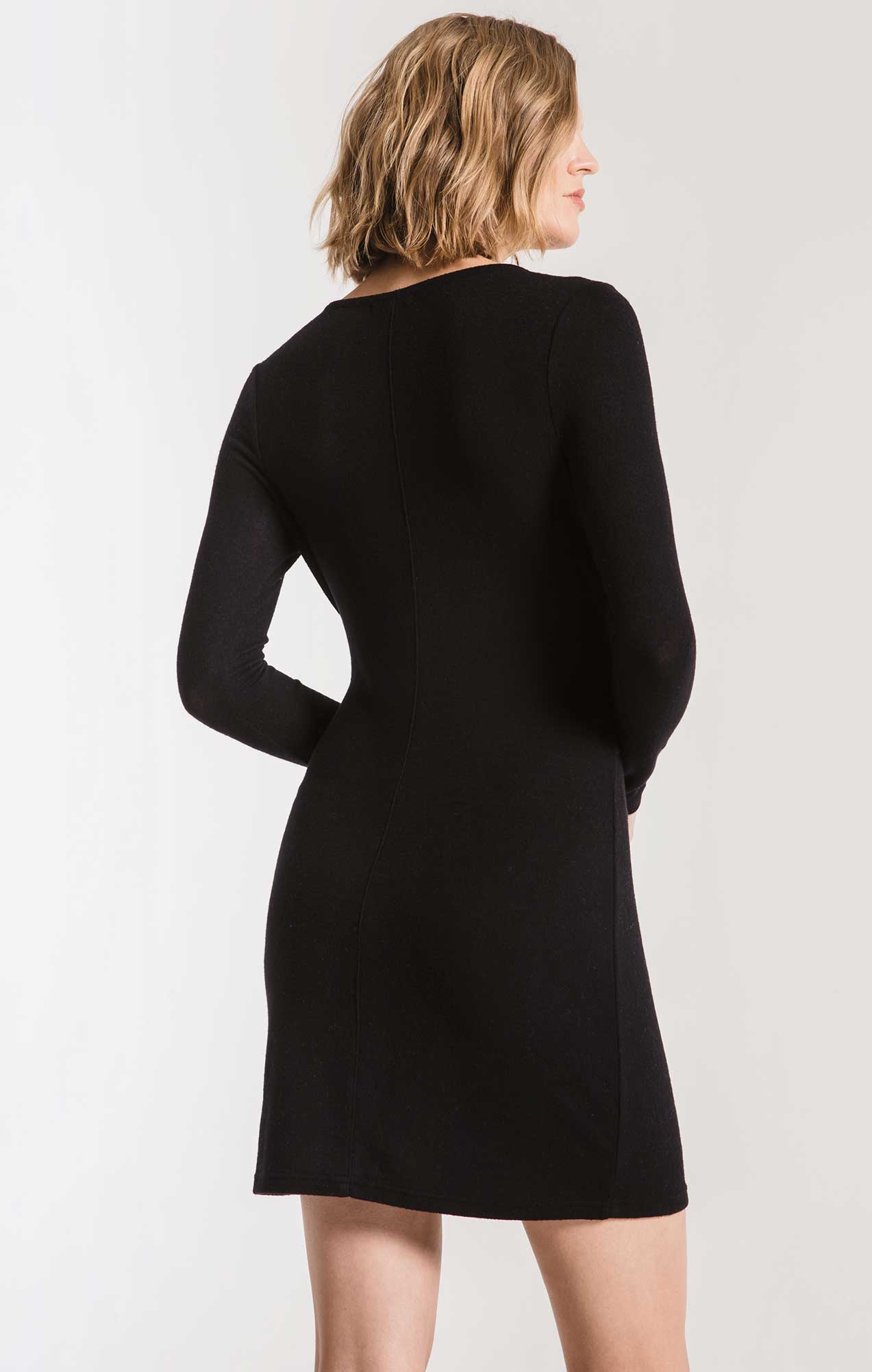 Dresses The Marled Wrap Front Dress Black