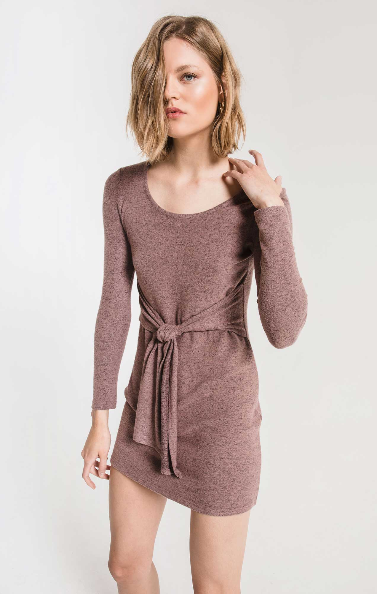 Dresses The Marled Wrap Front Dress Twilight Mauve