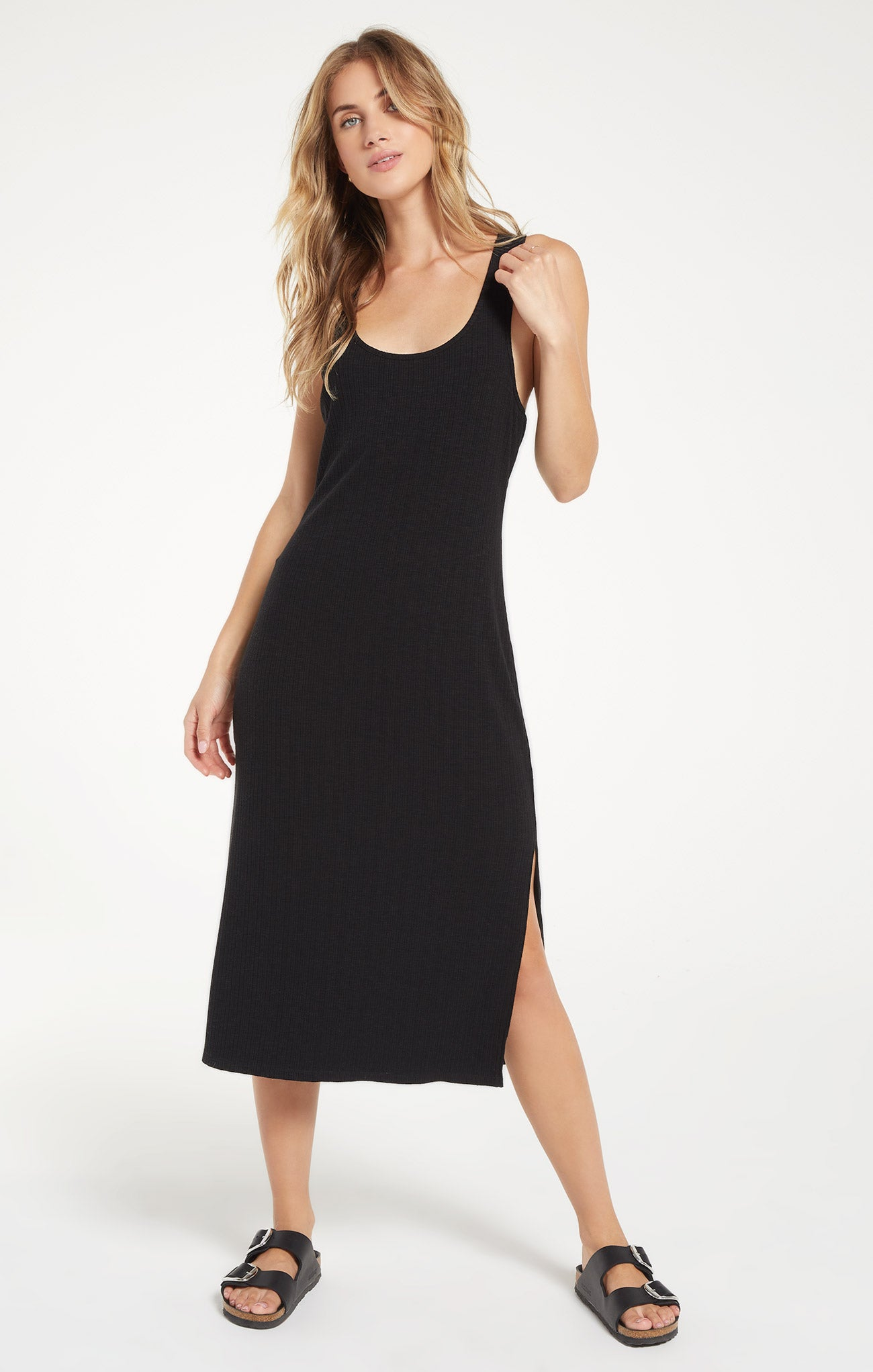 Dresses Rib Tank Dress Black