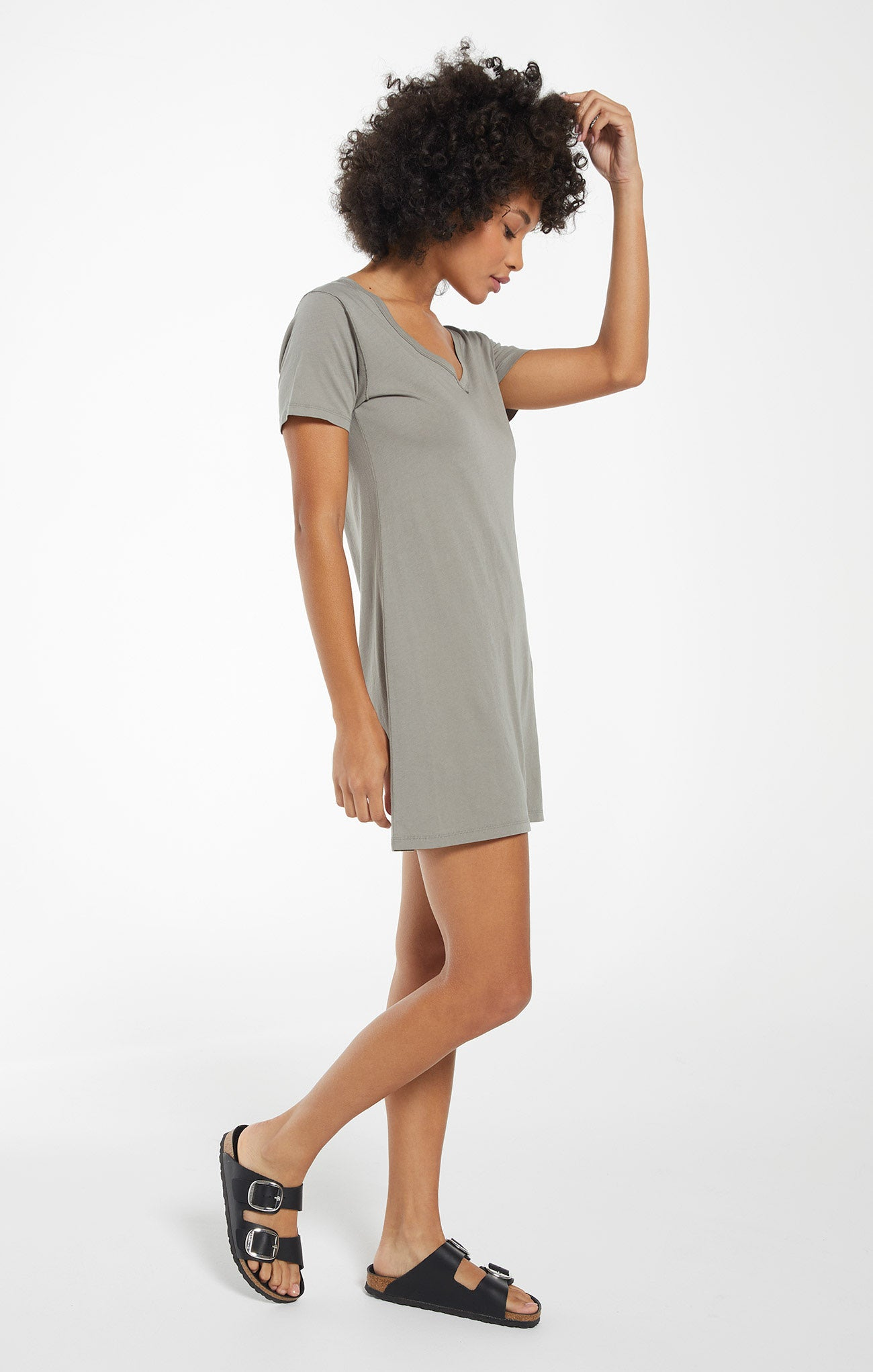 Dresses Organic Cotton T-Shirt Dress Dusty Sage