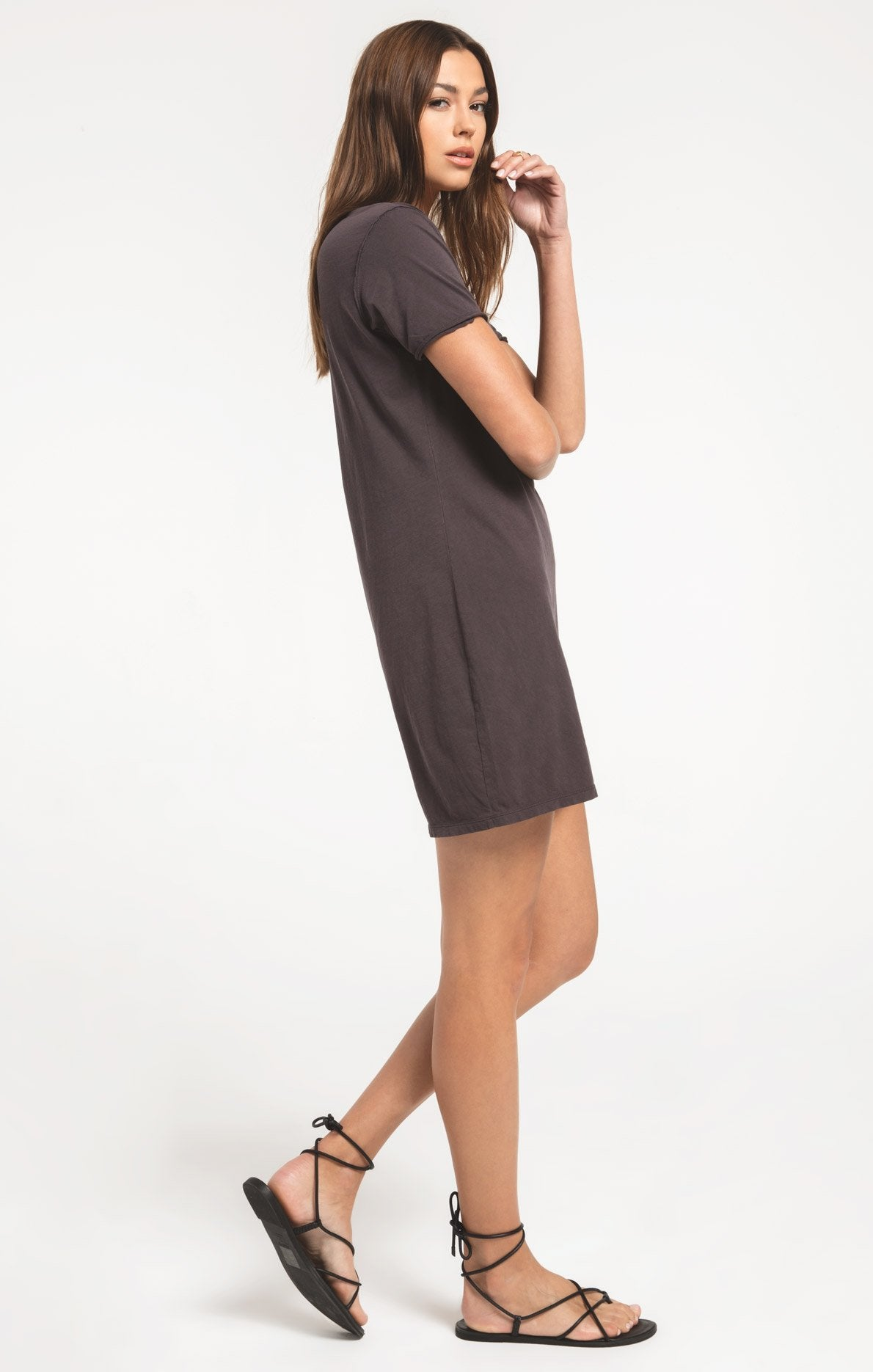 Dresses Organic Cotton T-Shirt Dress Graphite