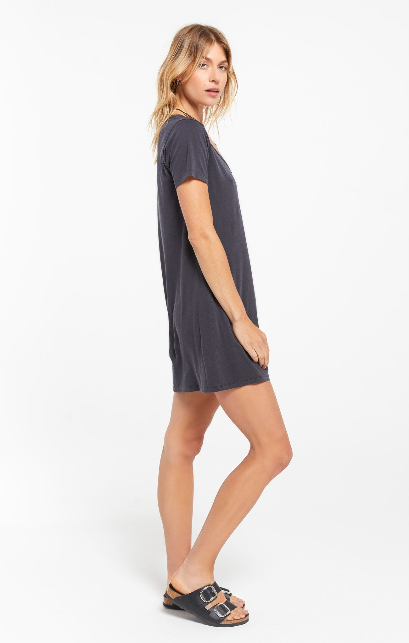 Dresses Organic Cotton T-Shirt Dress Washed Black