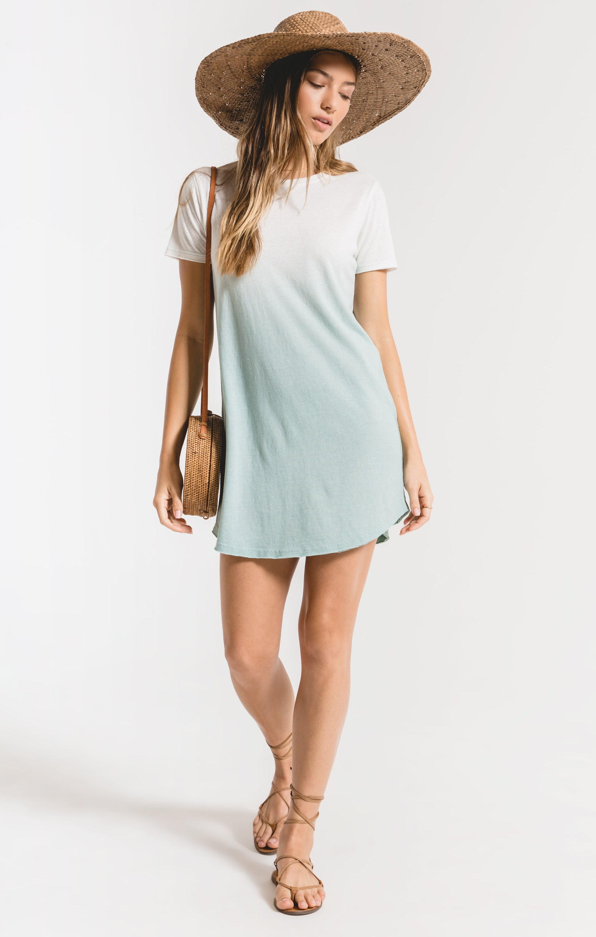 Dresses Ombre Dip Dye Dress Cameo Blue/White