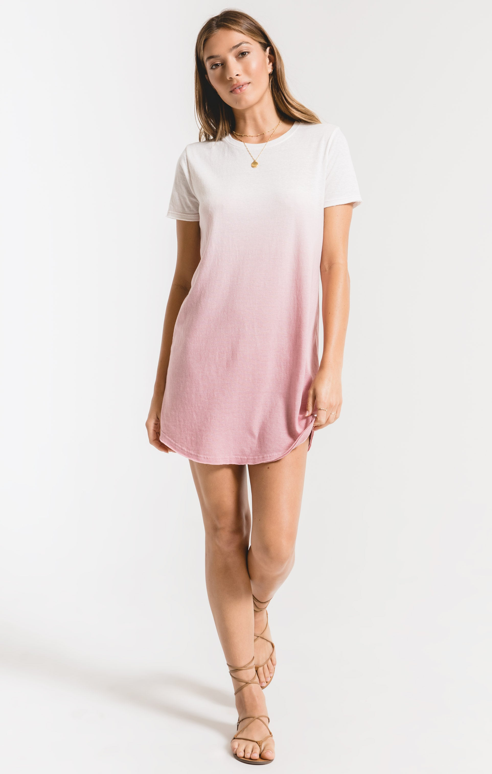 Dresses Ombre Dip Dye Dress Zephyr Pink/White