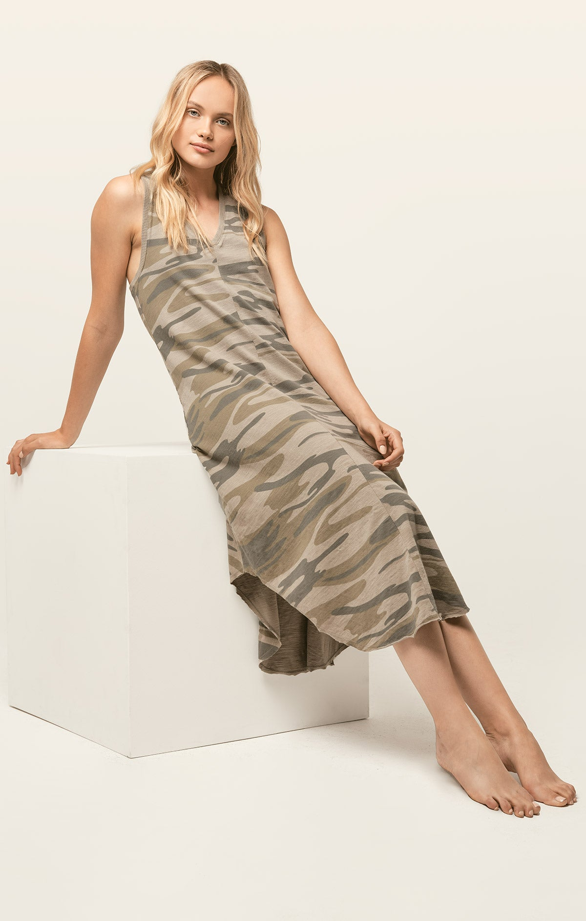 Dresses Camo Reverie Dress Camo Light Sage