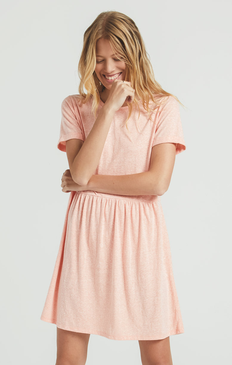 Dresses Lucia Triblend Dress Coral Almond