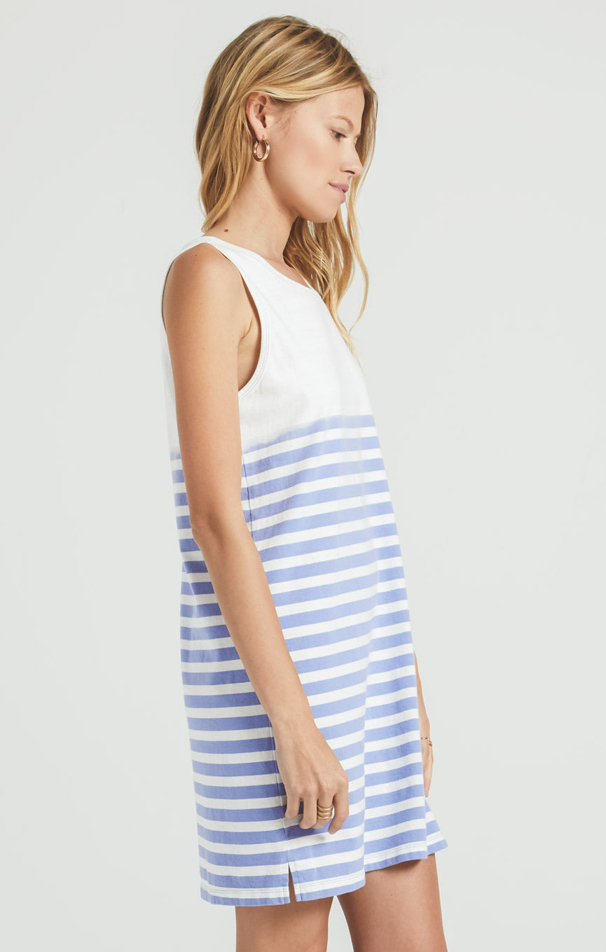 Dresses Aya Sun Stripe Dress Washed Indigo