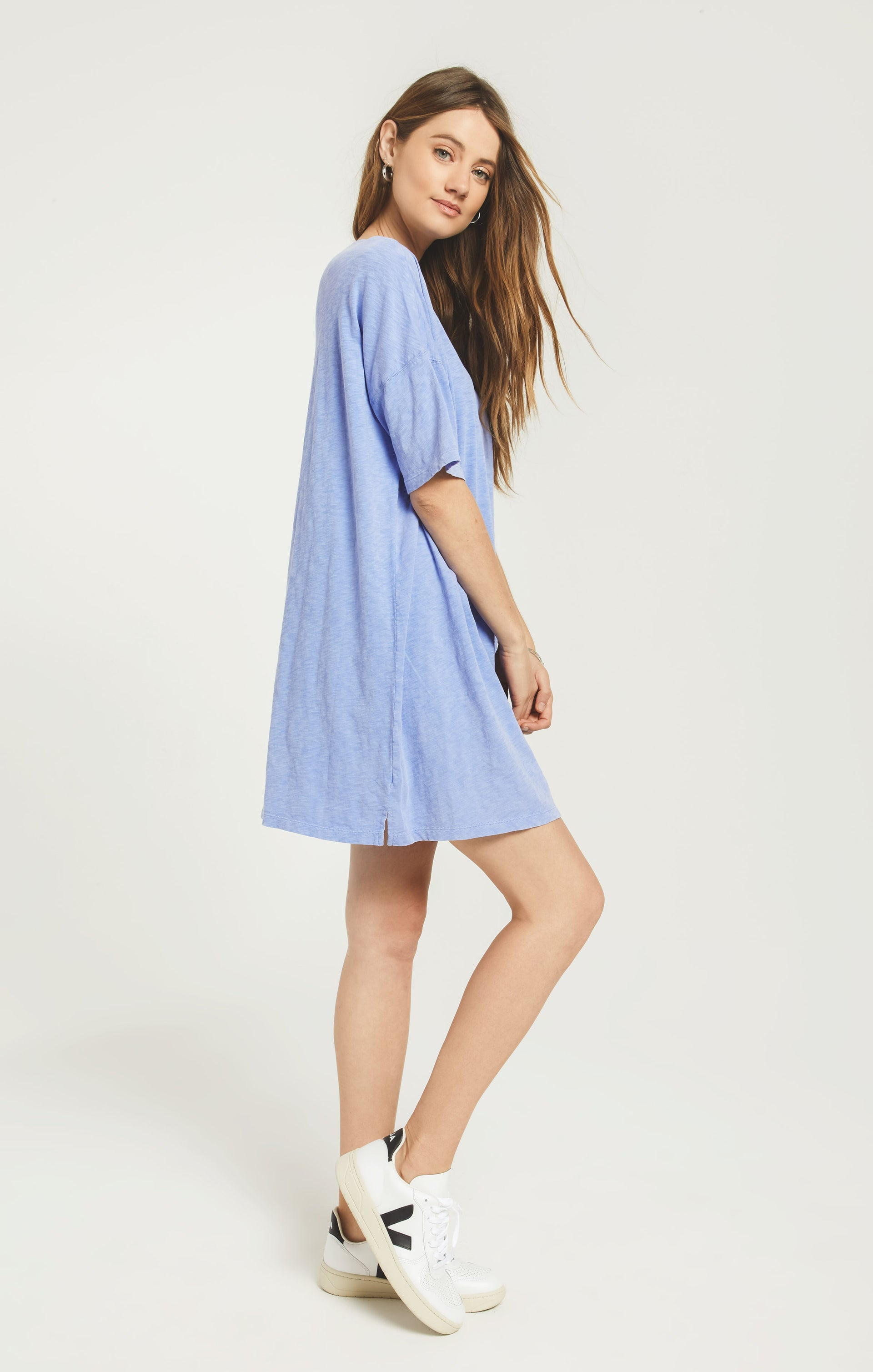 Dresses Delta Slub Dress Washed Indigo