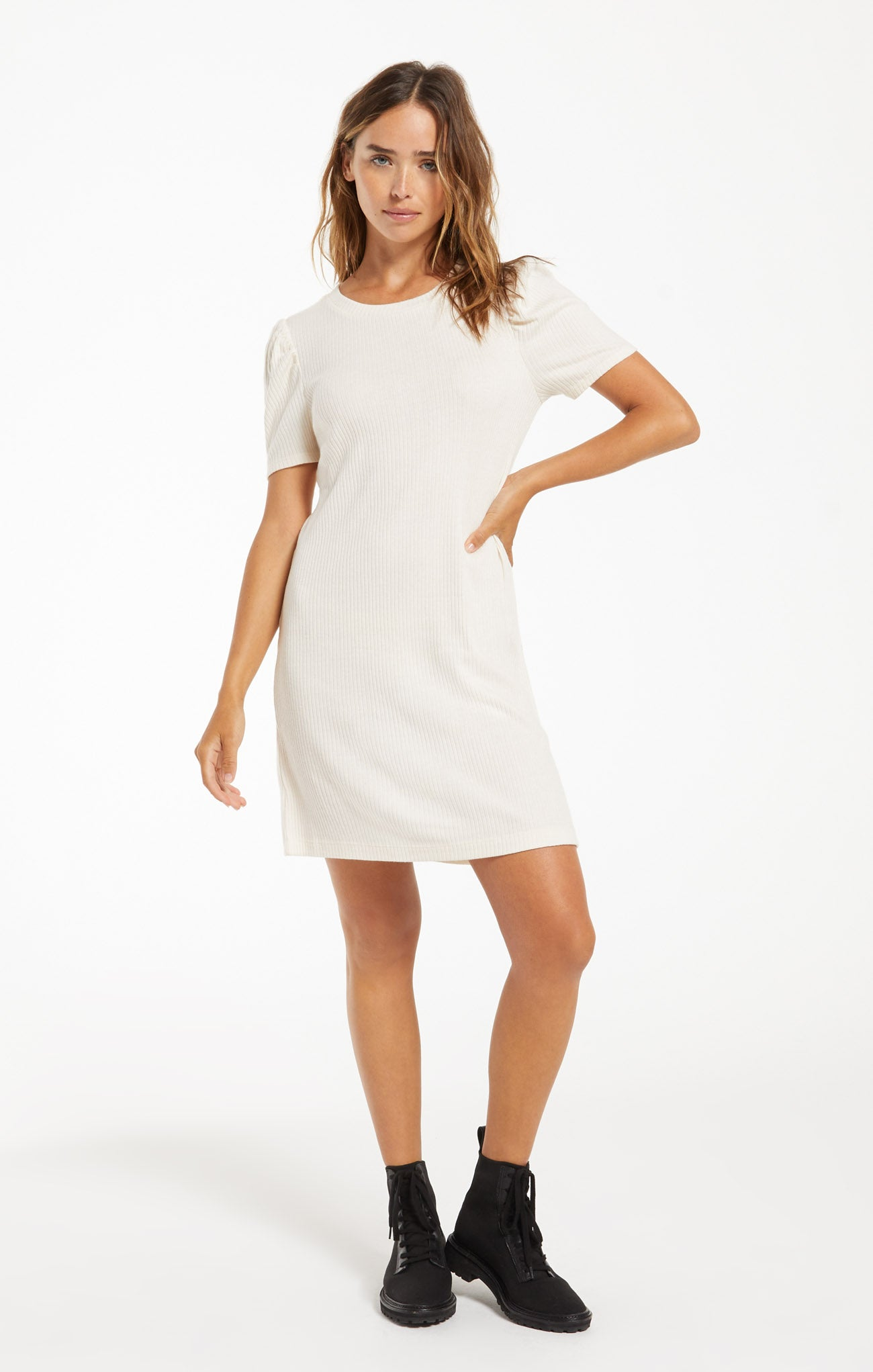 Dresses Kamryn Puff Sleeve Rib Dress Kamryn Puff Sleeve Rib Dress