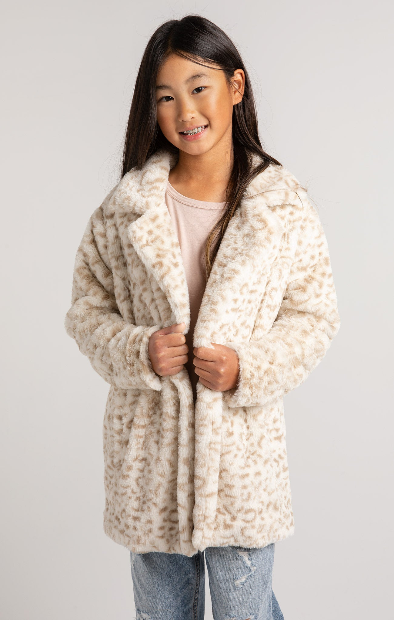 Jackets Girls Avery Leopard Jacket Bone