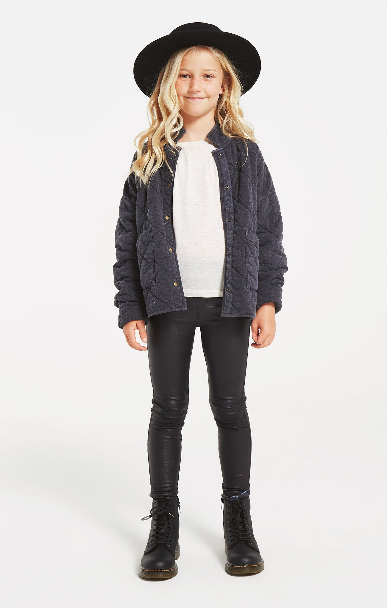 Jackets Girls Maya Quilted Jacket Washed Black