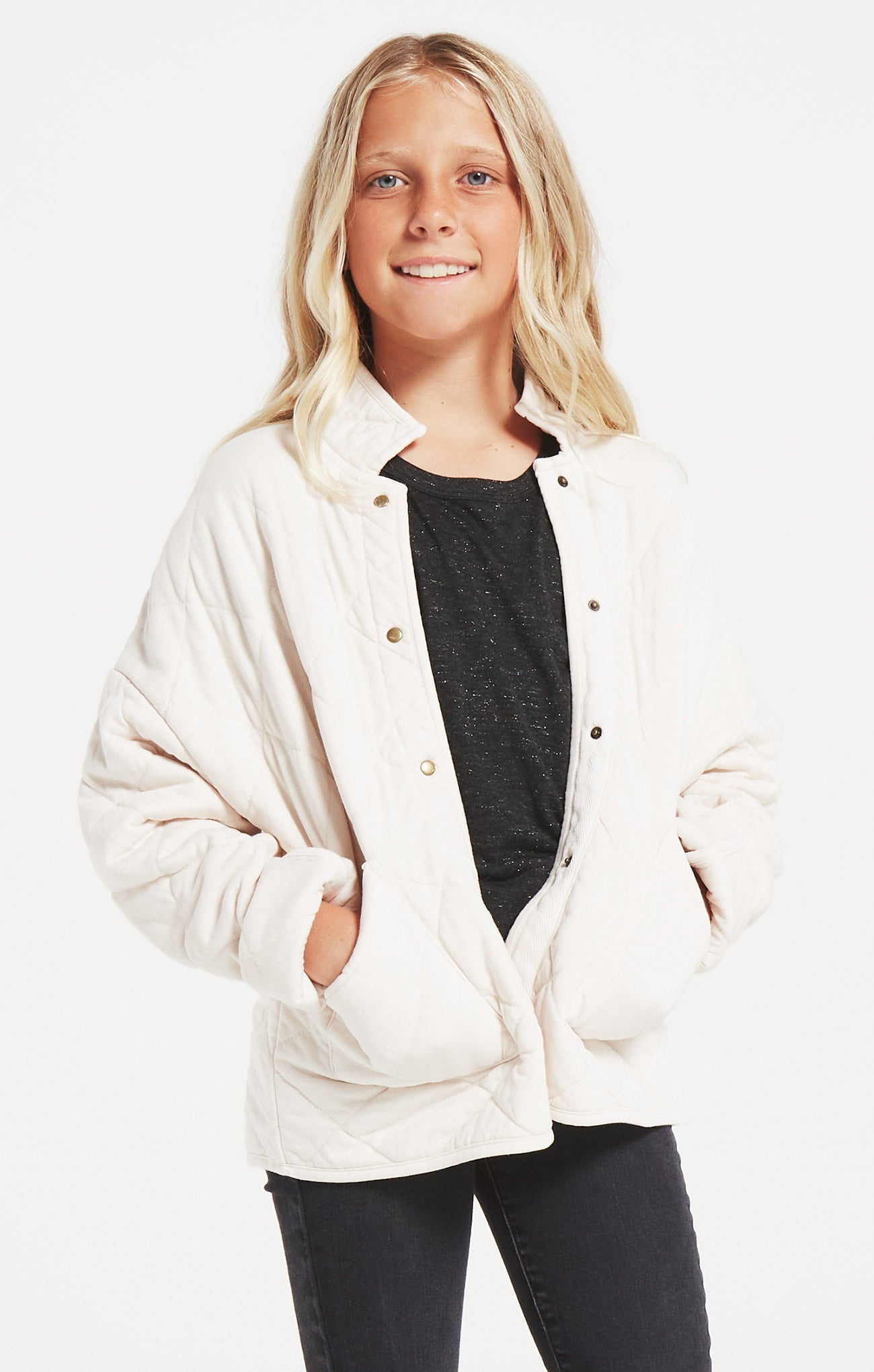Jackets Girls Maya Quilted Jacket Bone