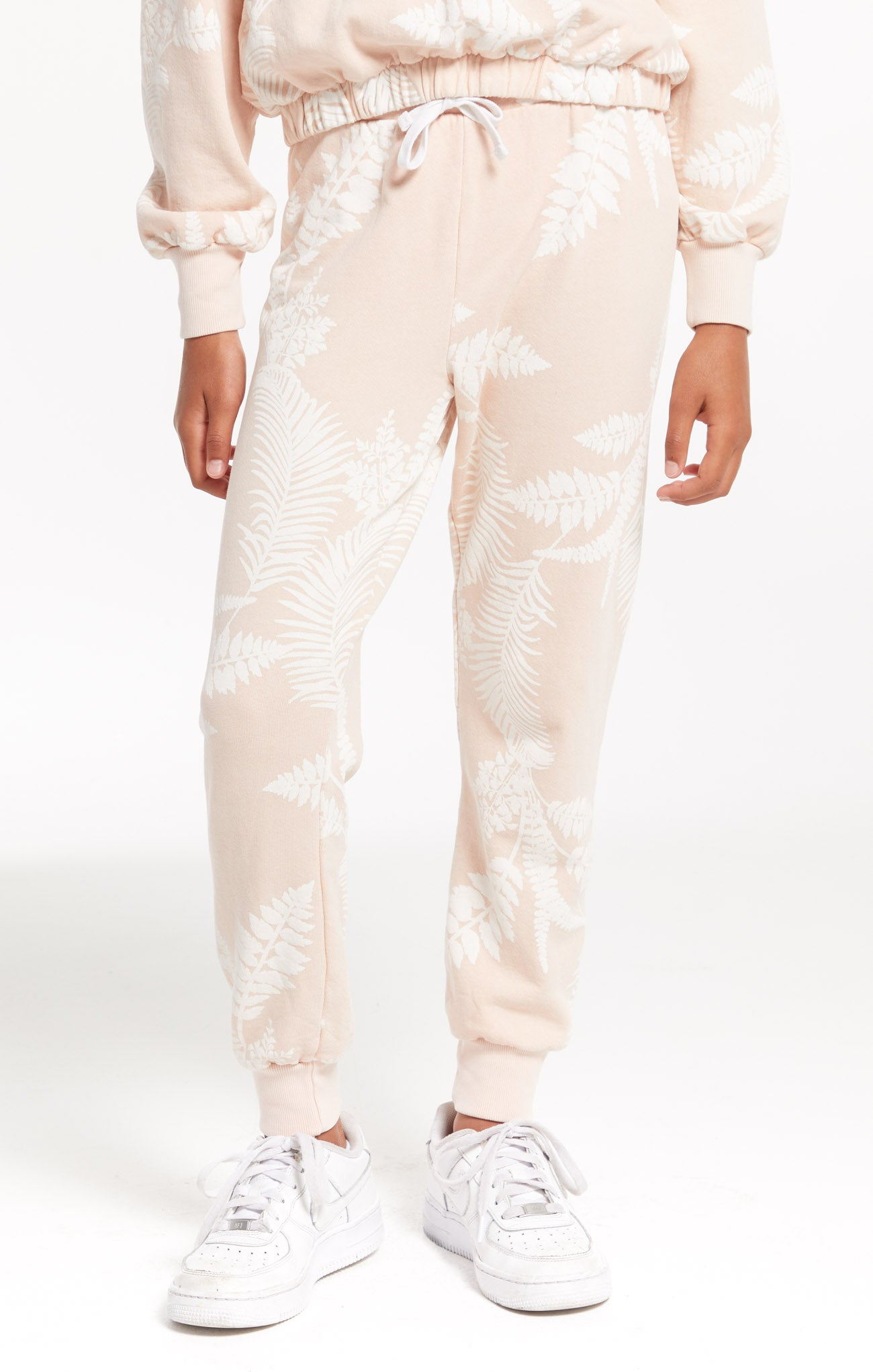 Pants Girls Ava Palm Jogger Rose Pearl