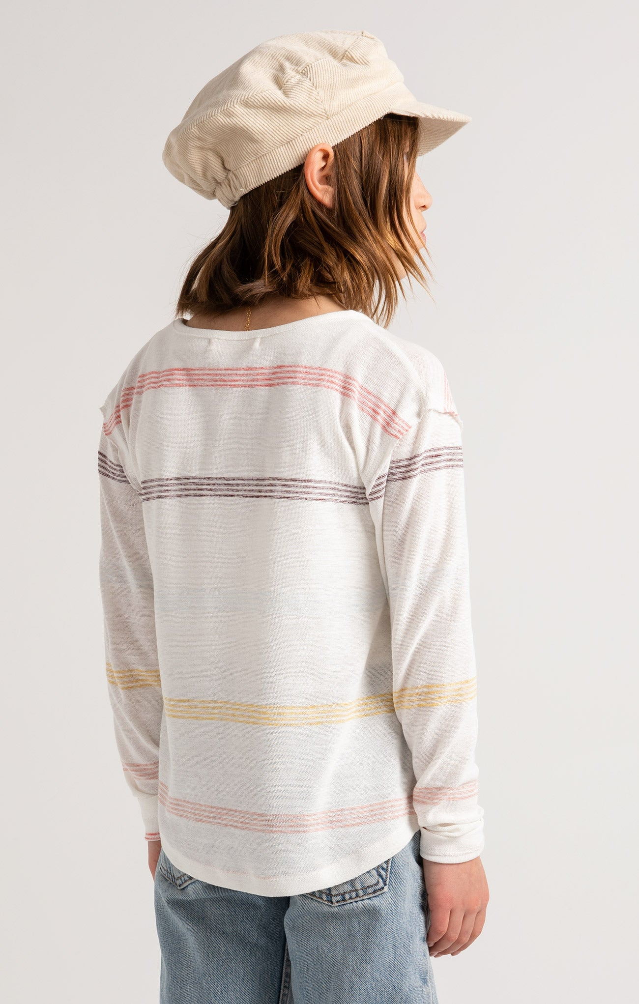 Tops Girls Kevy Stripe Long Sleeve Bone