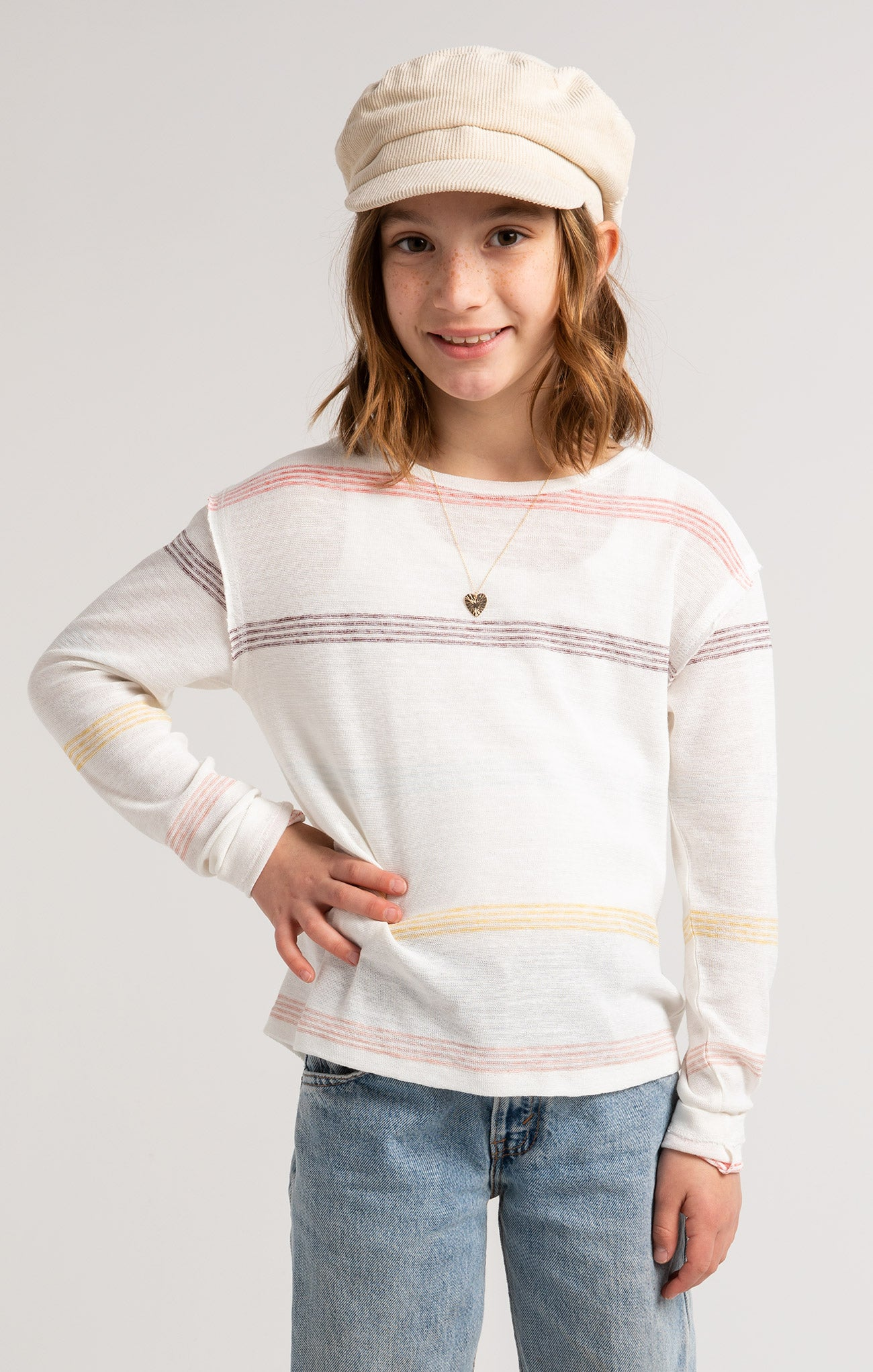 Tops Girls Kevy Stripe Long Sleeve Girls Kevy Stripe Long Sleeve