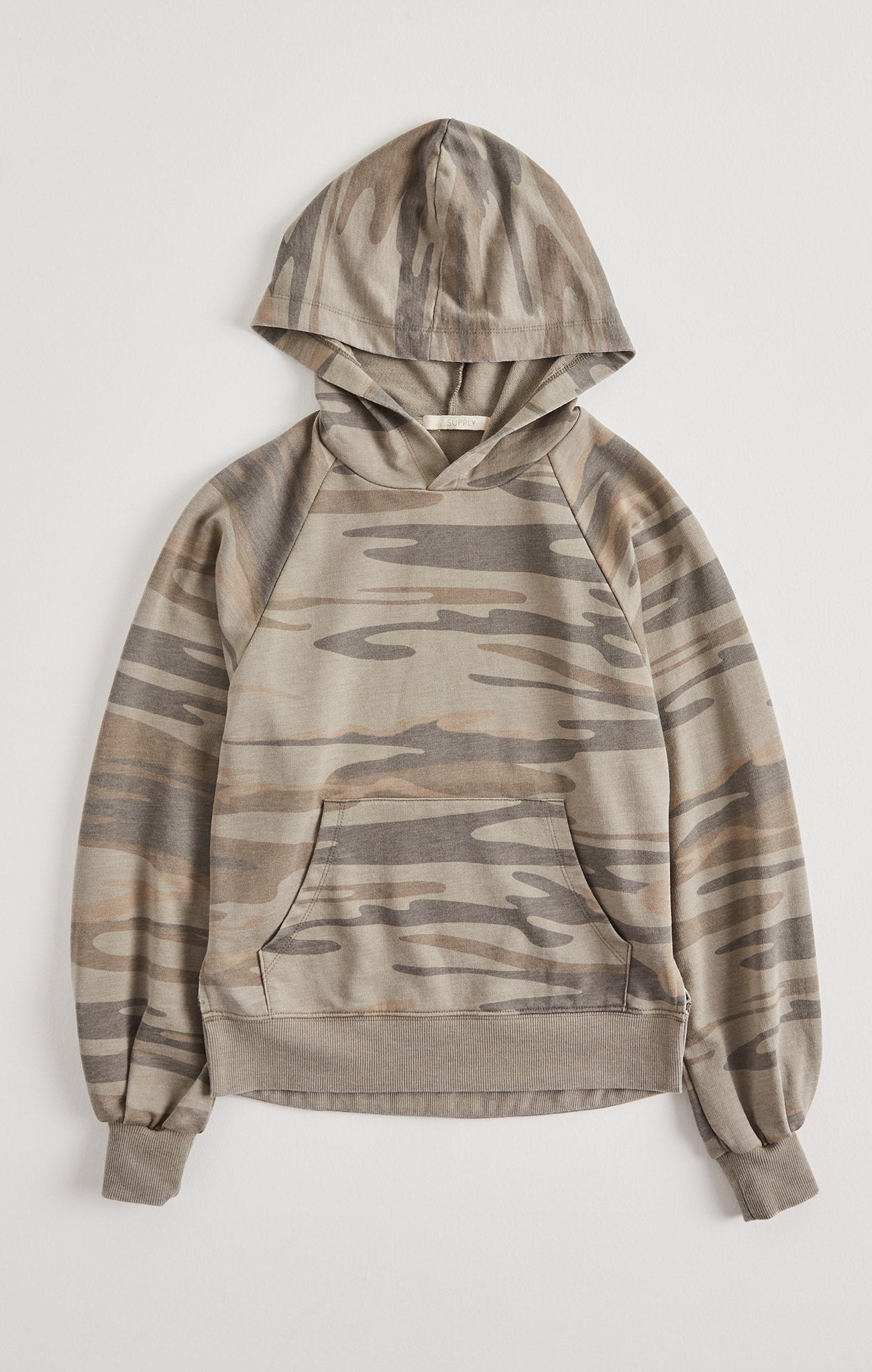 Tops Girls Sloan Camo Hoodie Camo Light Sage