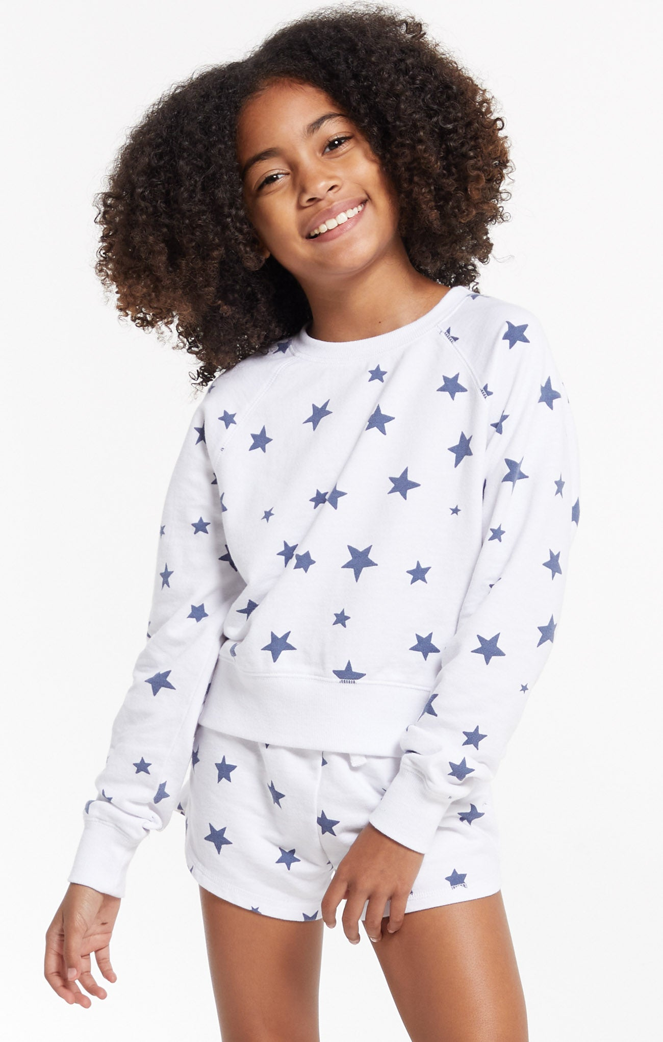 Tops Girls Ivy Star Pullover White