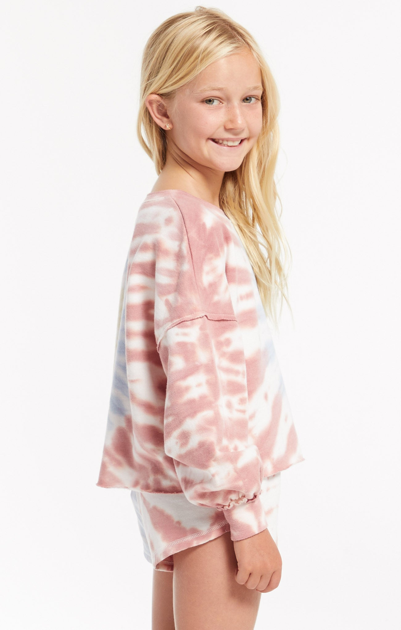 Tops Girls Mayori Tie-Dye Pullover White