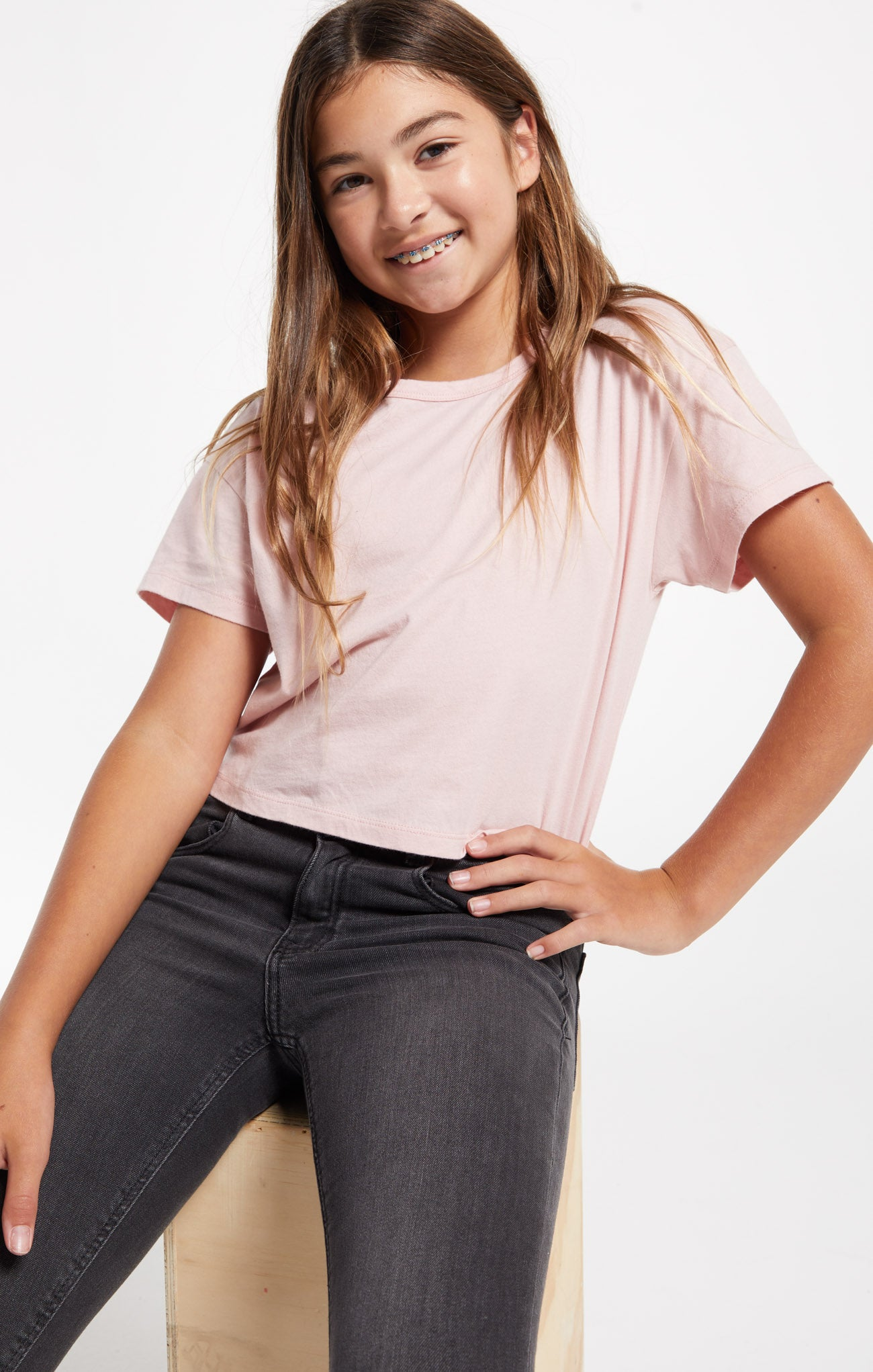Tops Girls Organic Nattie Skimmer Tee Pale Mauve