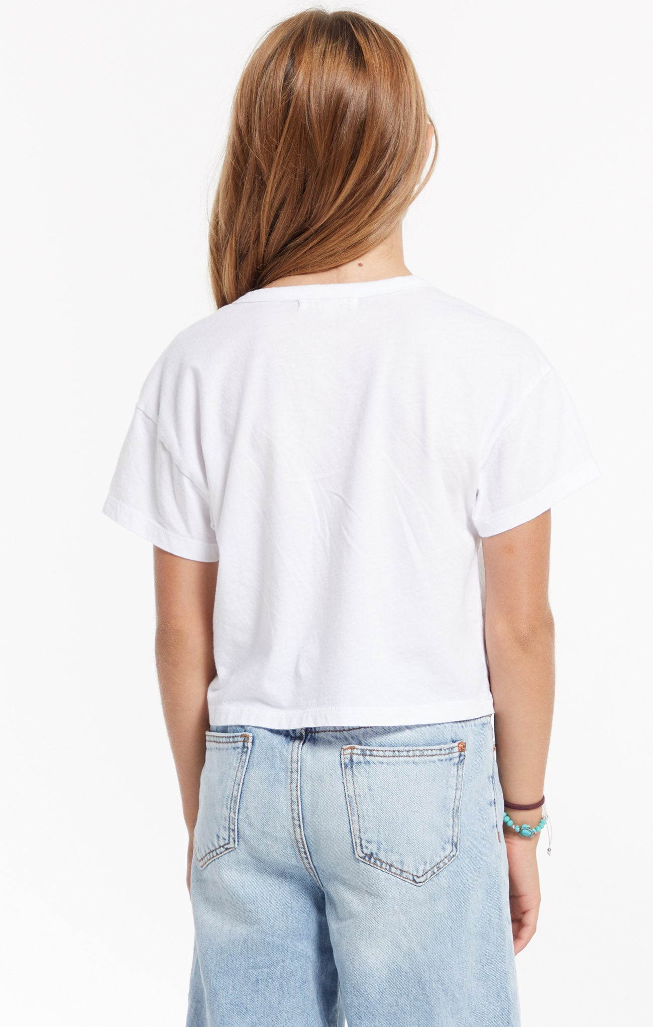 Tops Girls Organic Nattie Skimmer Tee White
