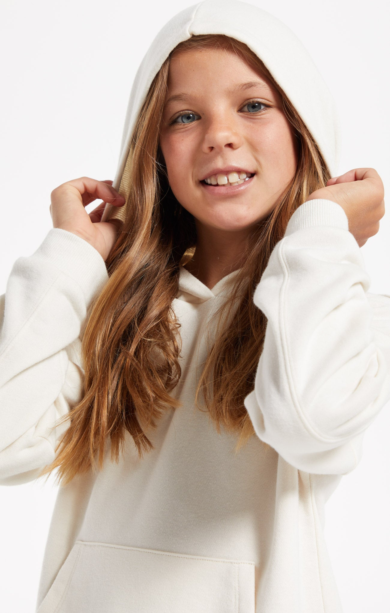 Tops Girls Piper Hoodie Bone