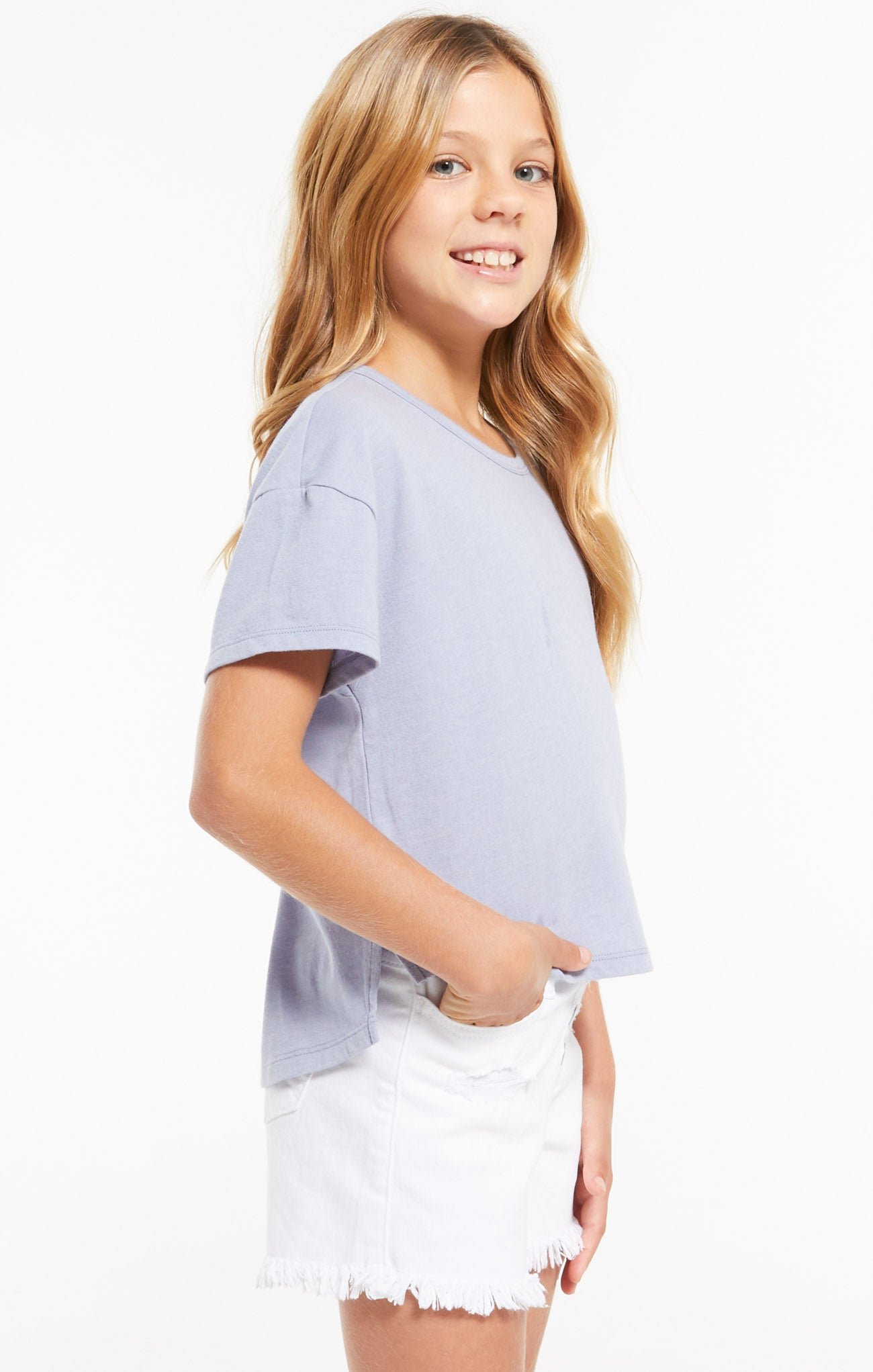 Tops Girls Mila Jersey Tee Lavender Grey