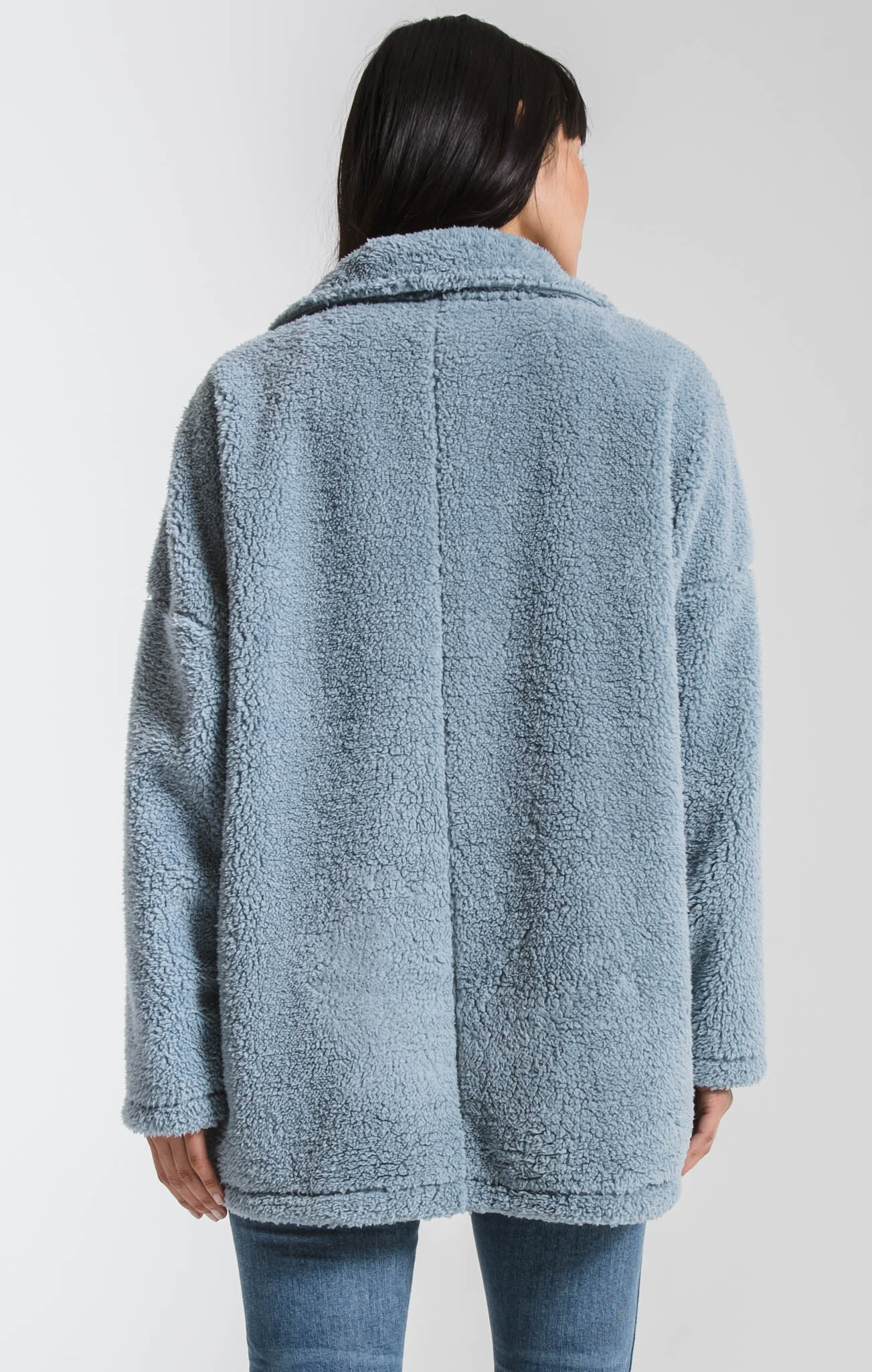 Jackets Sherpa Teddy Bear Coat Ashley Blue